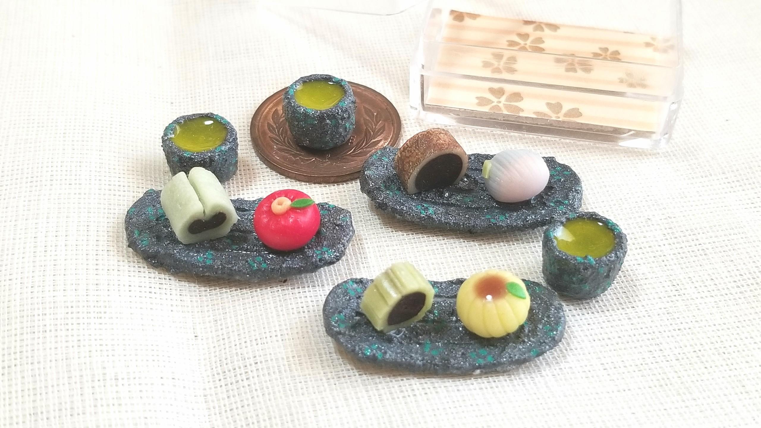 和菓子,ミンネで販売中,ミニチュアフード,ドール用品小物,フェイク