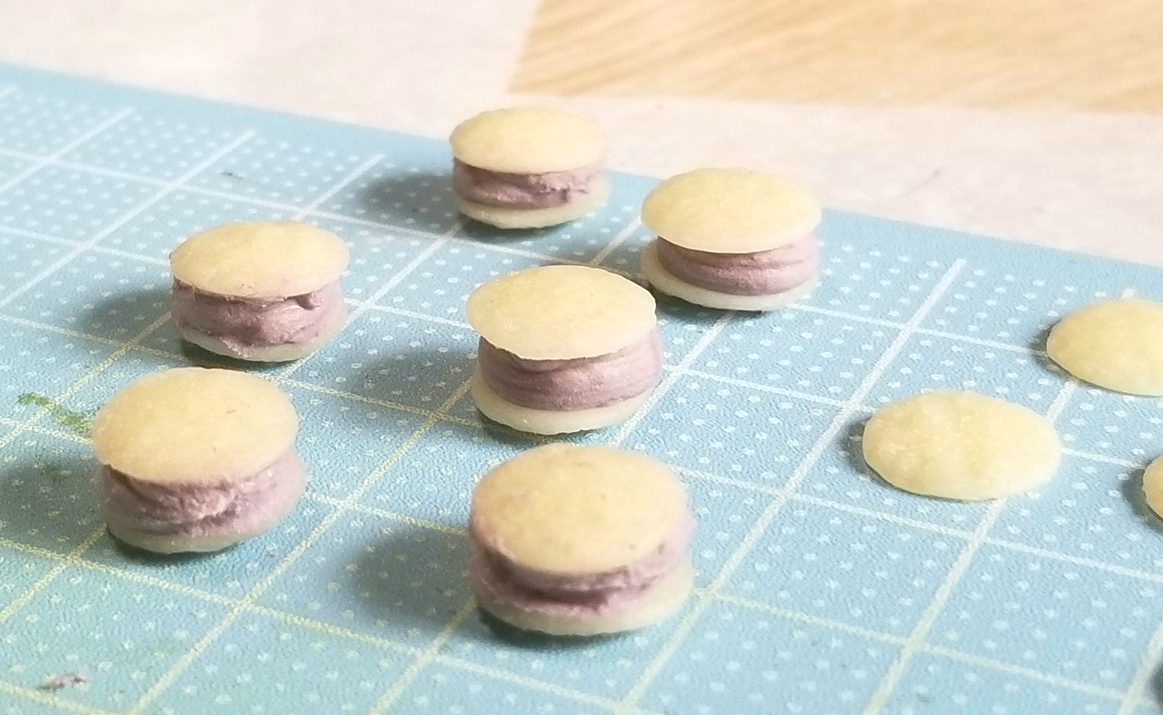 ミニチュアフード,和菓子,クリームどら焼き,作り方,樹脂粘土,人形