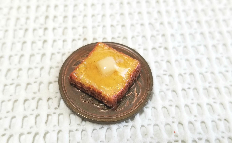 ミニチュア, バタートースト, 食パン, 樹脂粘土, ハンドメイド