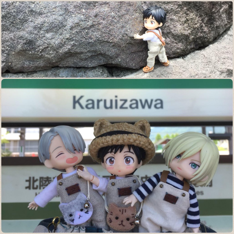 オビツろいどユリオ,可愛い三人組,電車を待つ,皆で金沢へ遊びに行く