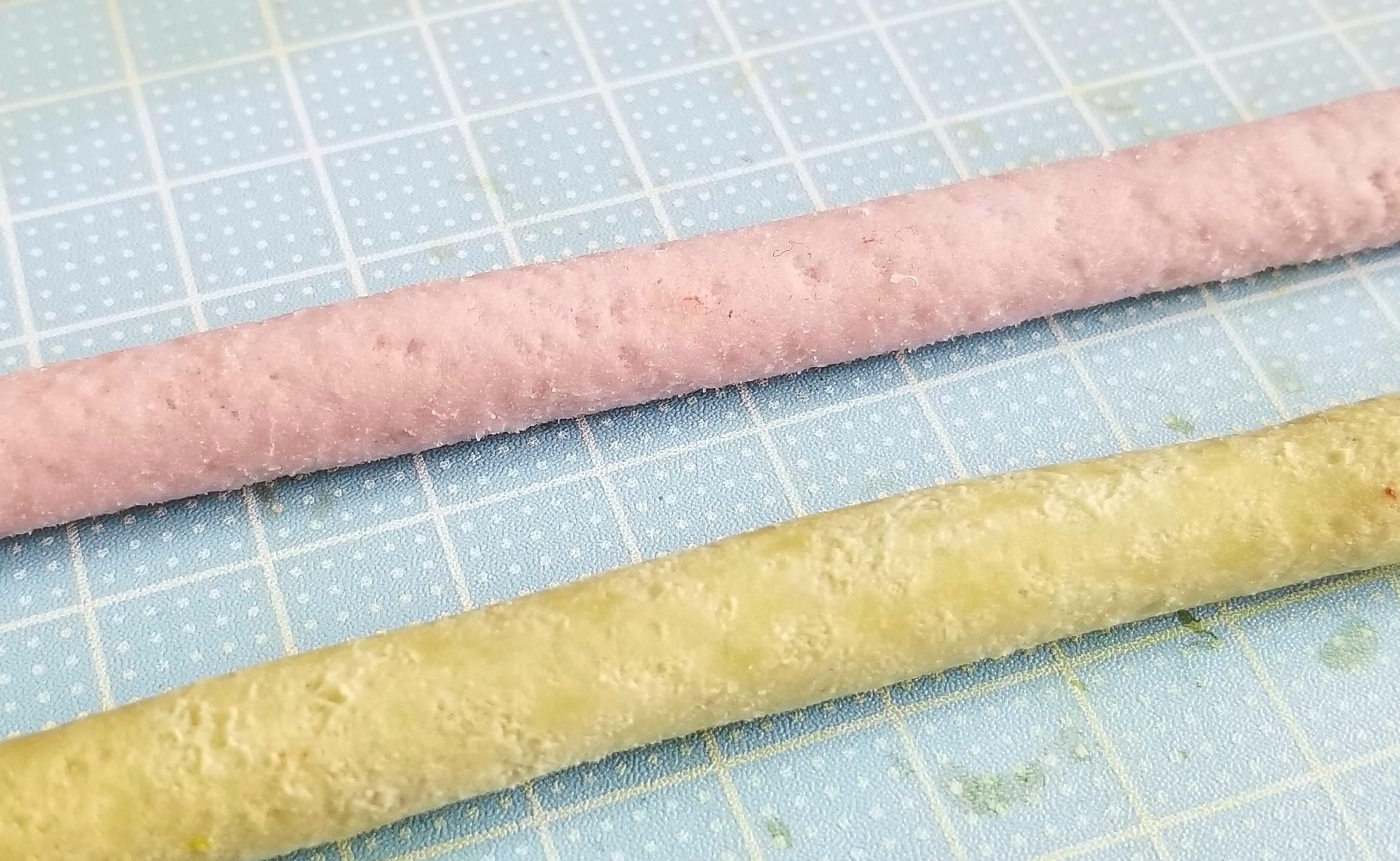 ミニチュアフード,和菓子,あんこ入り餡ロールの作り方,樹脂粘土