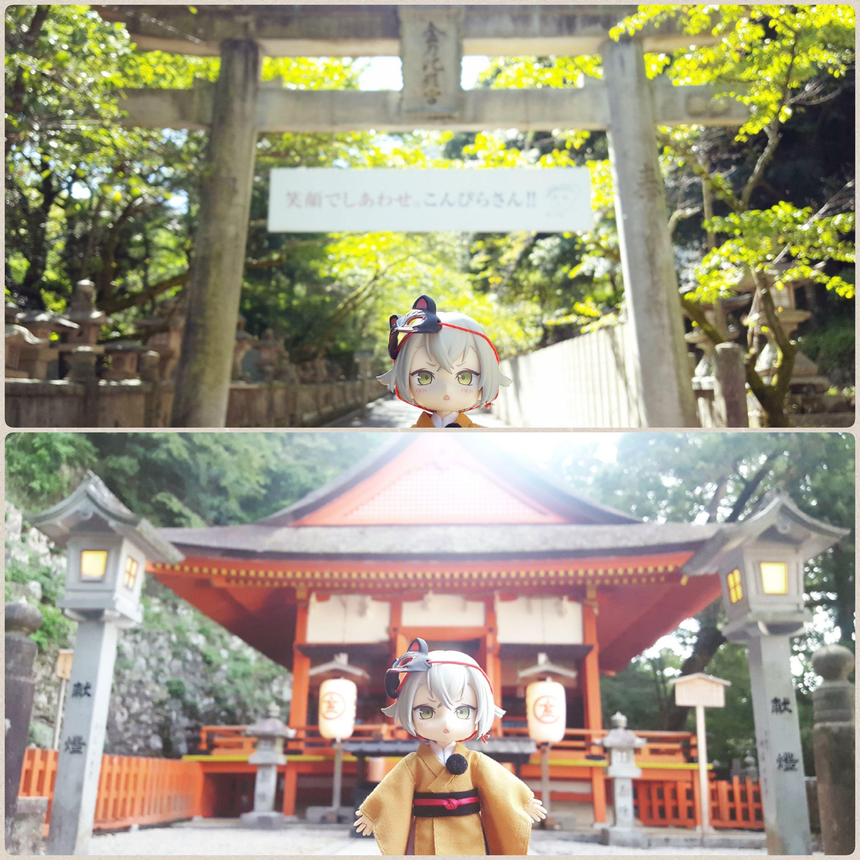 可愛ドールとオーナー,日本旅行,香川県,金比羅前,長い階段楽しかった