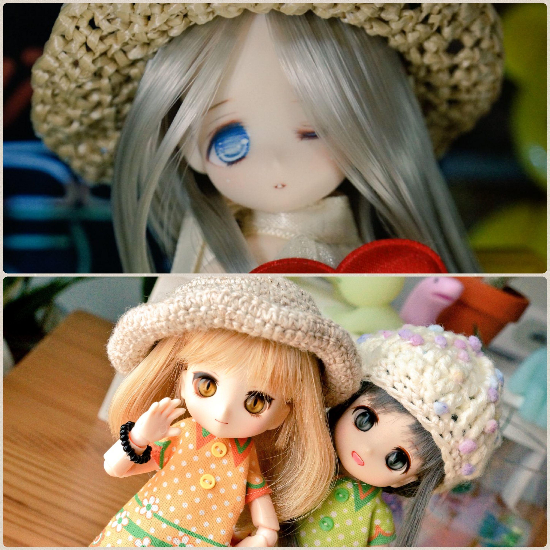 あまむす楪,可愛いミニスウィーツドール,いつも仲良し三人組,人形