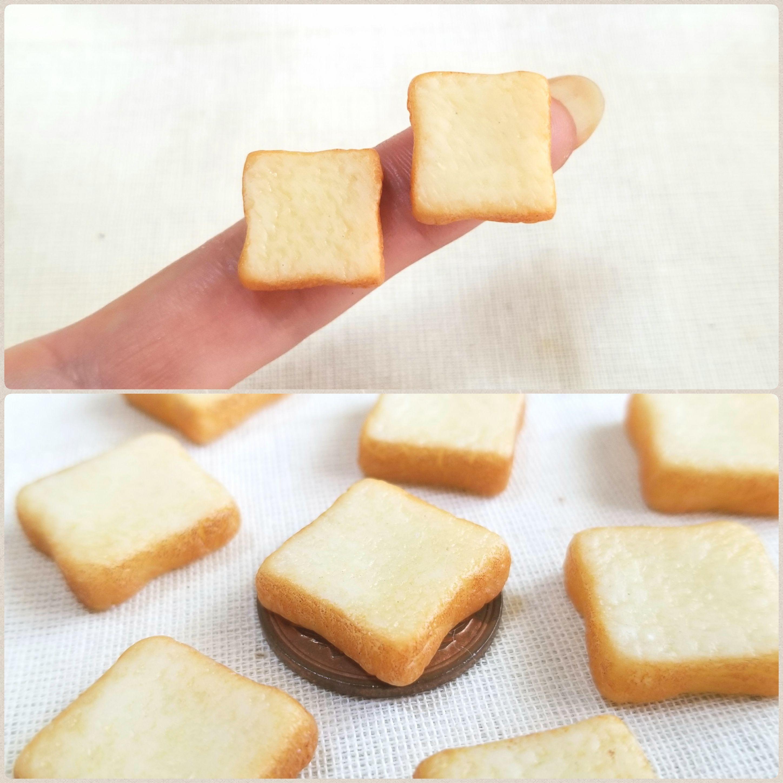 おいしそうな超熟食パン,ミニチュアフード,樹脂粘土,ミンネで販売