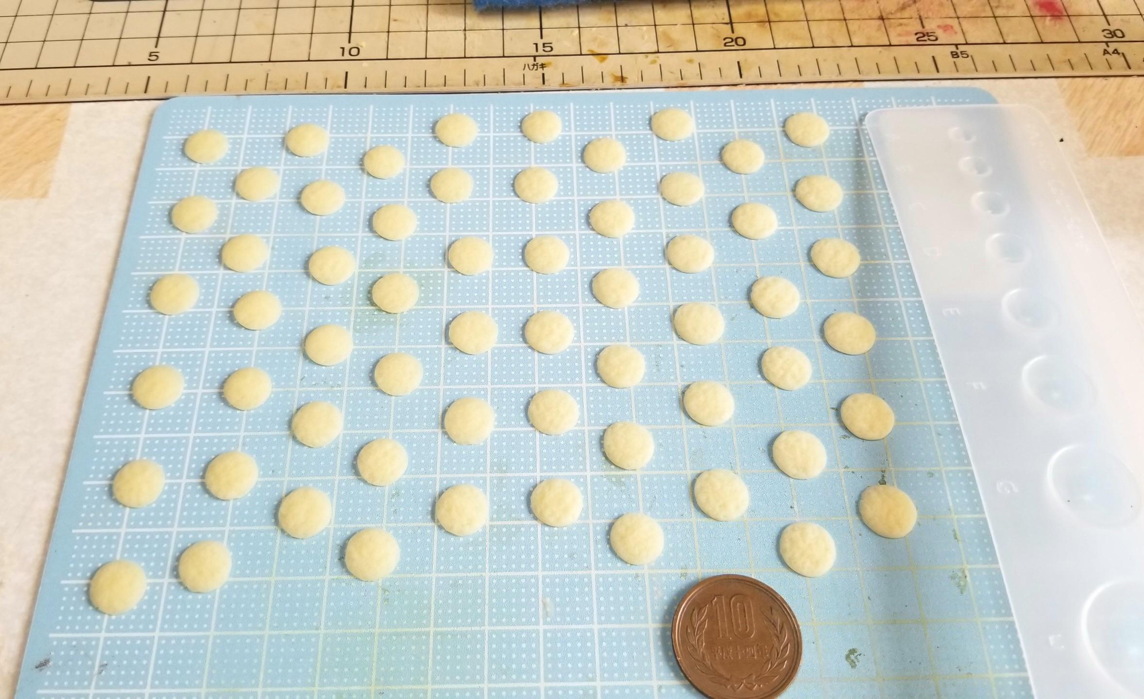 ミニチュアフード,クリームどら焼きの作り方,和菓子,樹脂粘土,手作り
