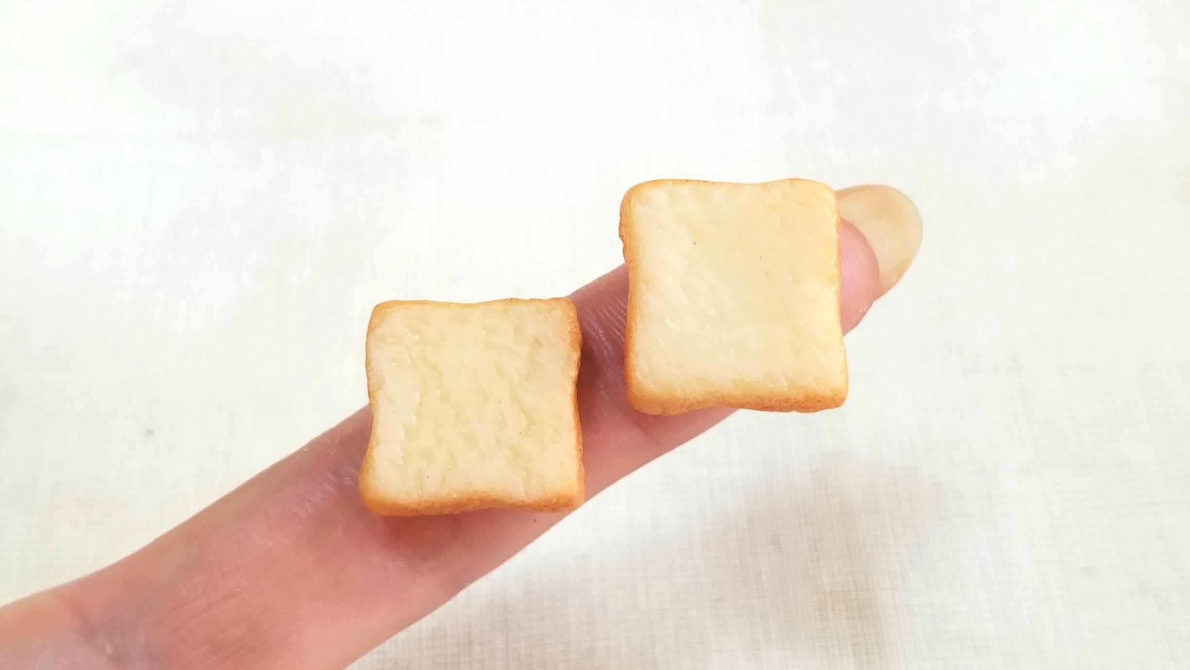 ふんわり食パン,ミニチュアフード,美味しいトースト,粘土,ドール小物