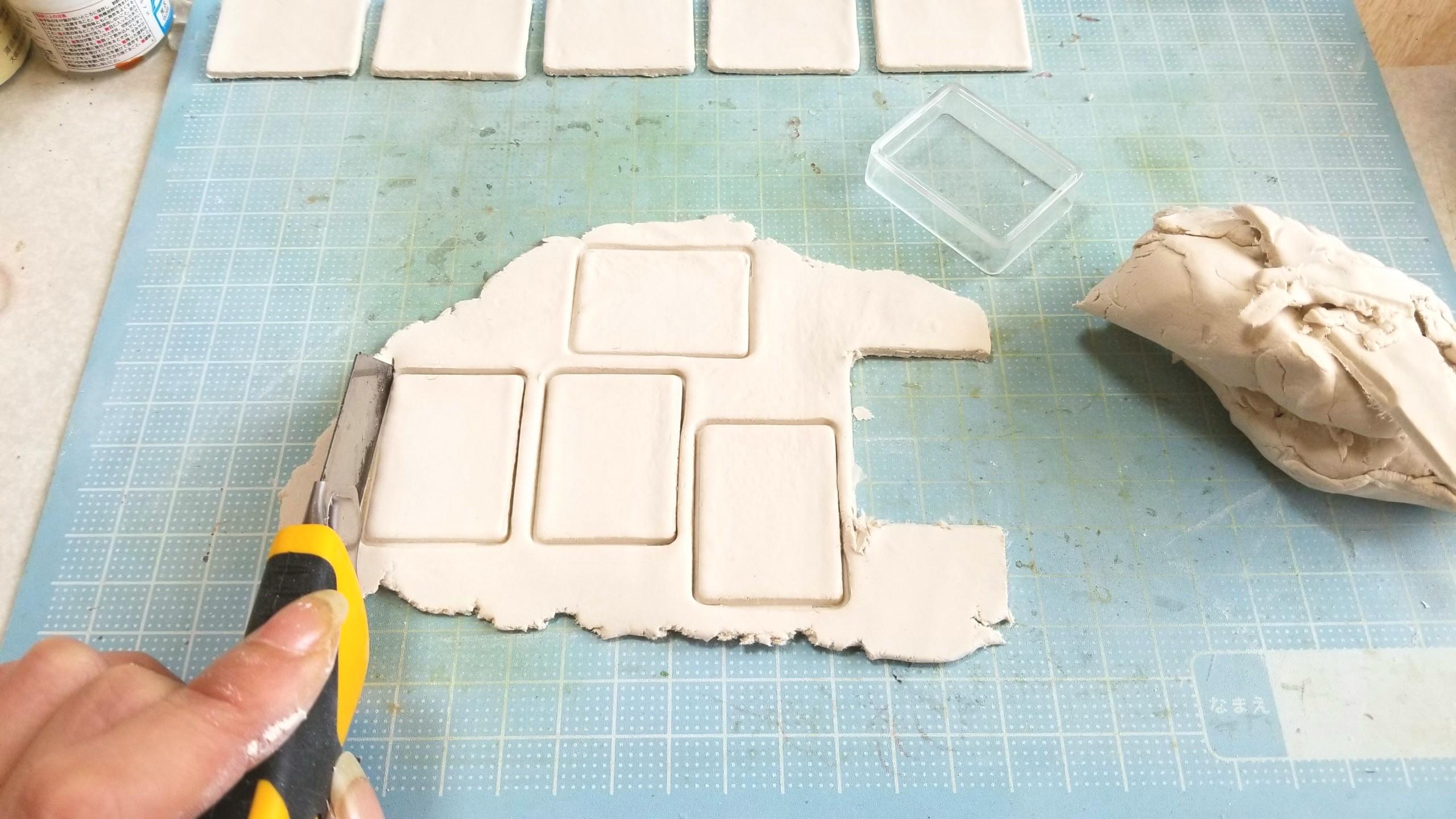 陶器風和食器,作り方,石塑粘土,ミニチュアフード,ドールハウス,お皿