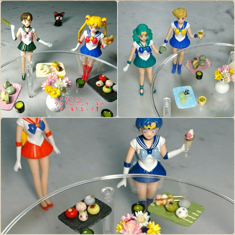 セーラームーン,人形,ドール,ミニチュアフード,和菓子,ミンネ販売中