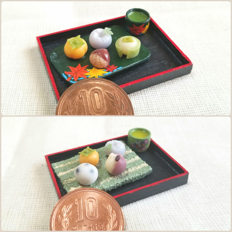 ミンネの日,お買い得,ドール用小物,ミニチュアフード,季節の和菓子
