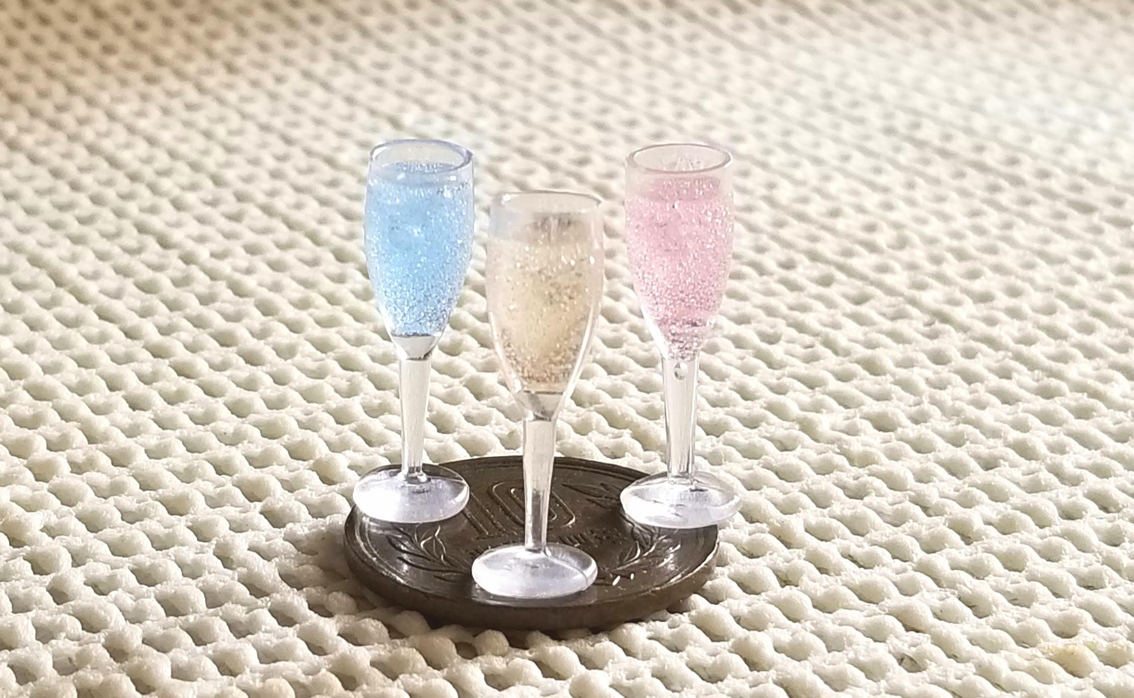 スパークリングワイン,ミニチュアフード,シャンパン,レジン,オビツ11