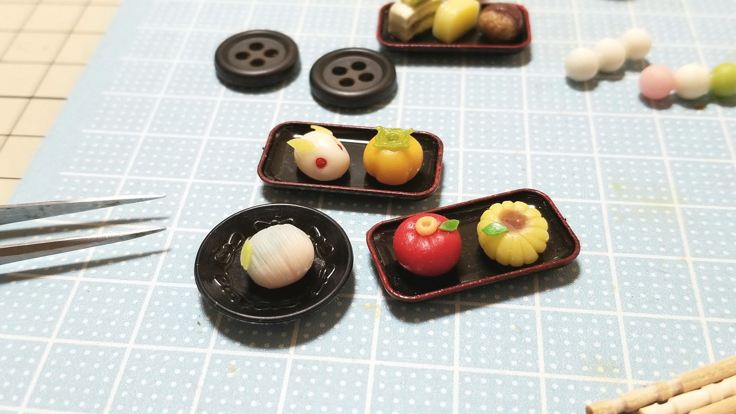 小さいかわいいミニチュアフェイクフード和菓子饅頭おもちゃ小物