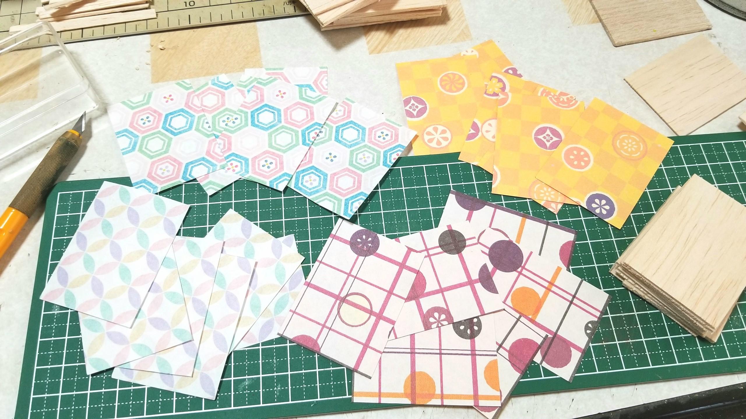 台紙,土台,作り方,ミニチュアフード,千代紙,折り紙,ハンドメイド