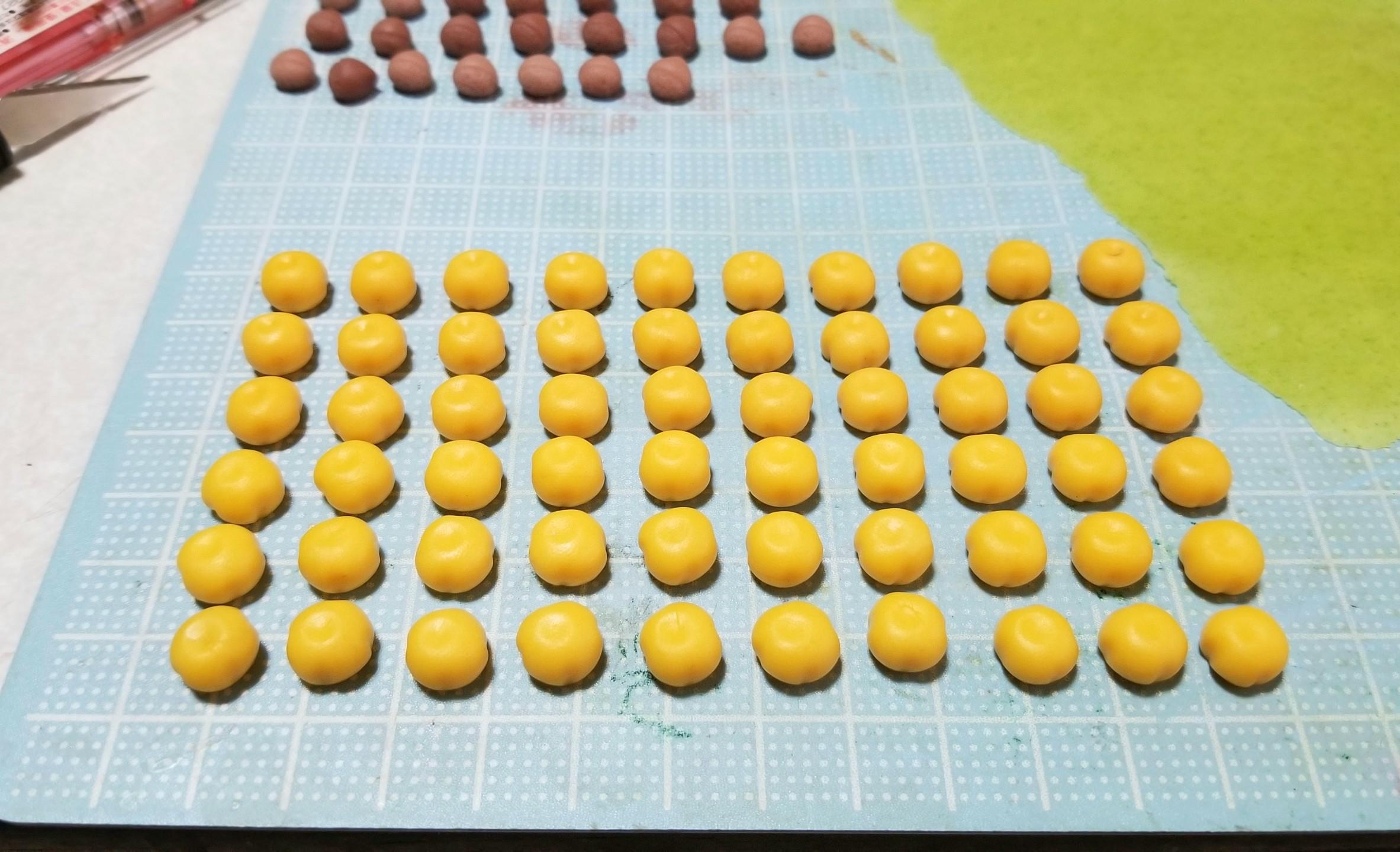 ミニチュアフード,和菓子,柿菓子,作り方,樹脂粘土,食品サンプル