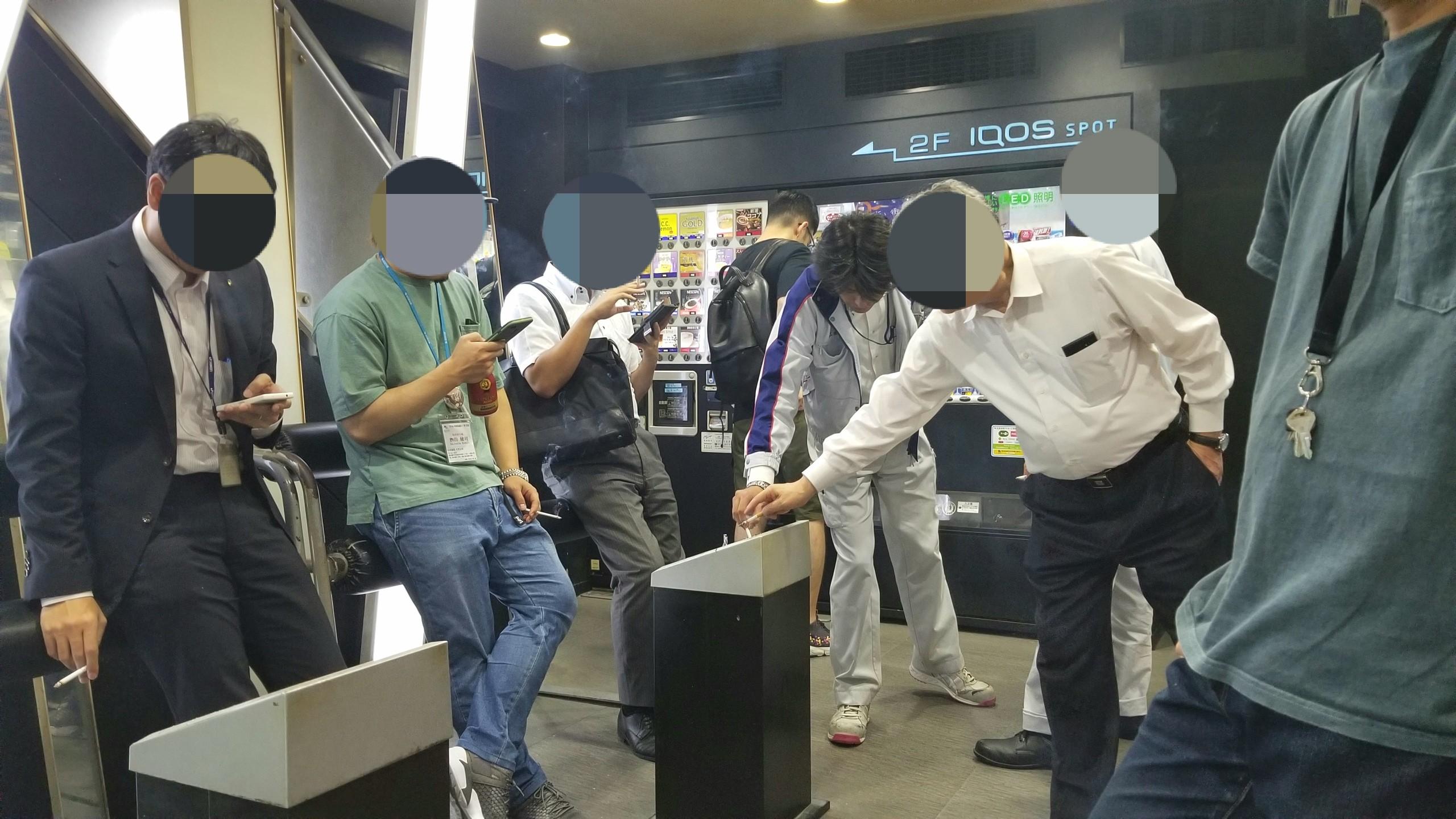 東京,都会の喫煙所,秋葉原,都会は禁煙場所ばかり,喫煙者は辛い