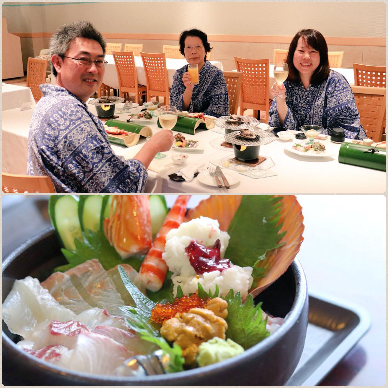 旅行で息抜き,母親と旅行,ふたり旅,温泉旅行,豪華で美味しい海鮮丼