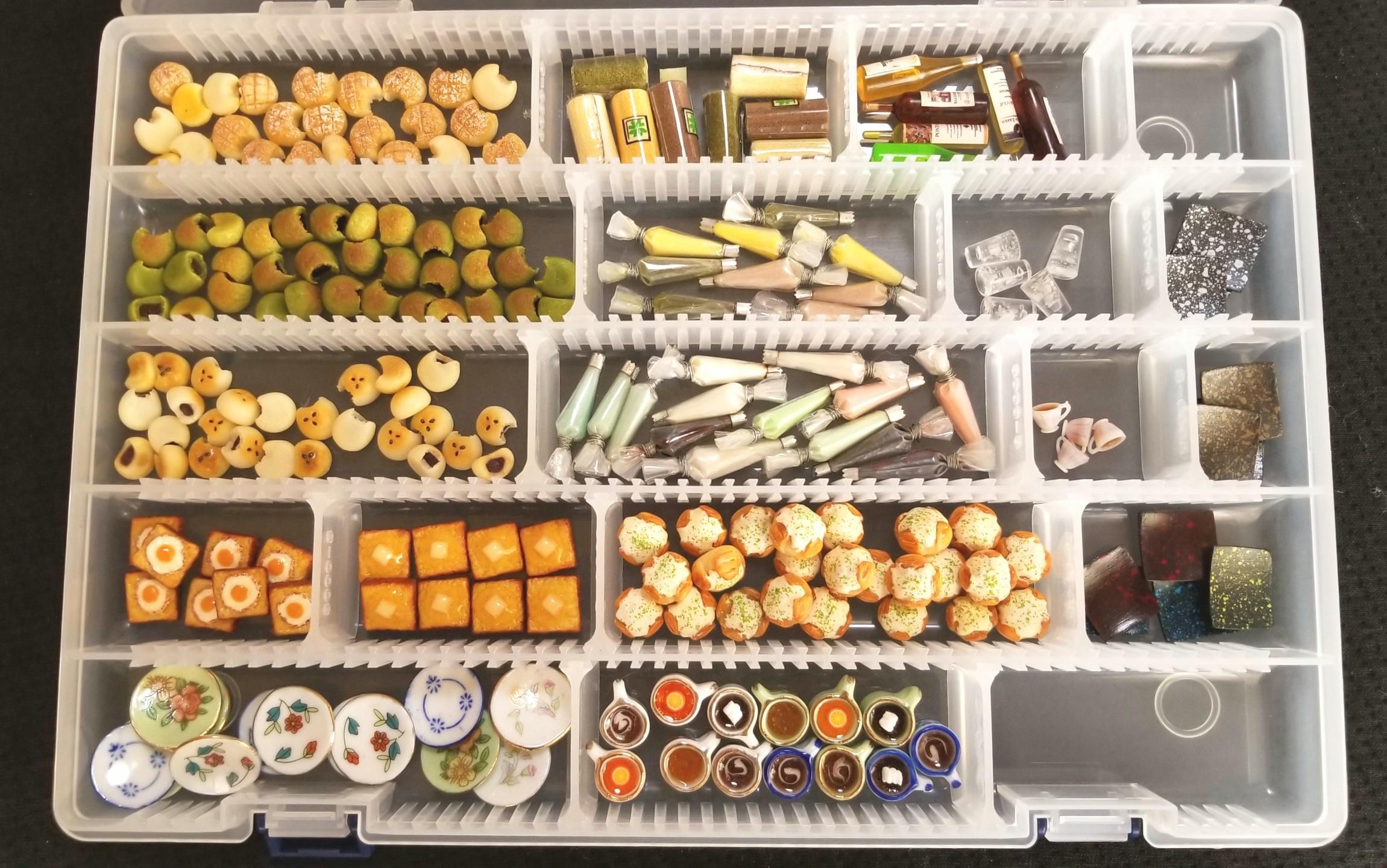 ミニチュアフード,パン,ドリンク,絞り袋,シルバニア,食品サンプル
