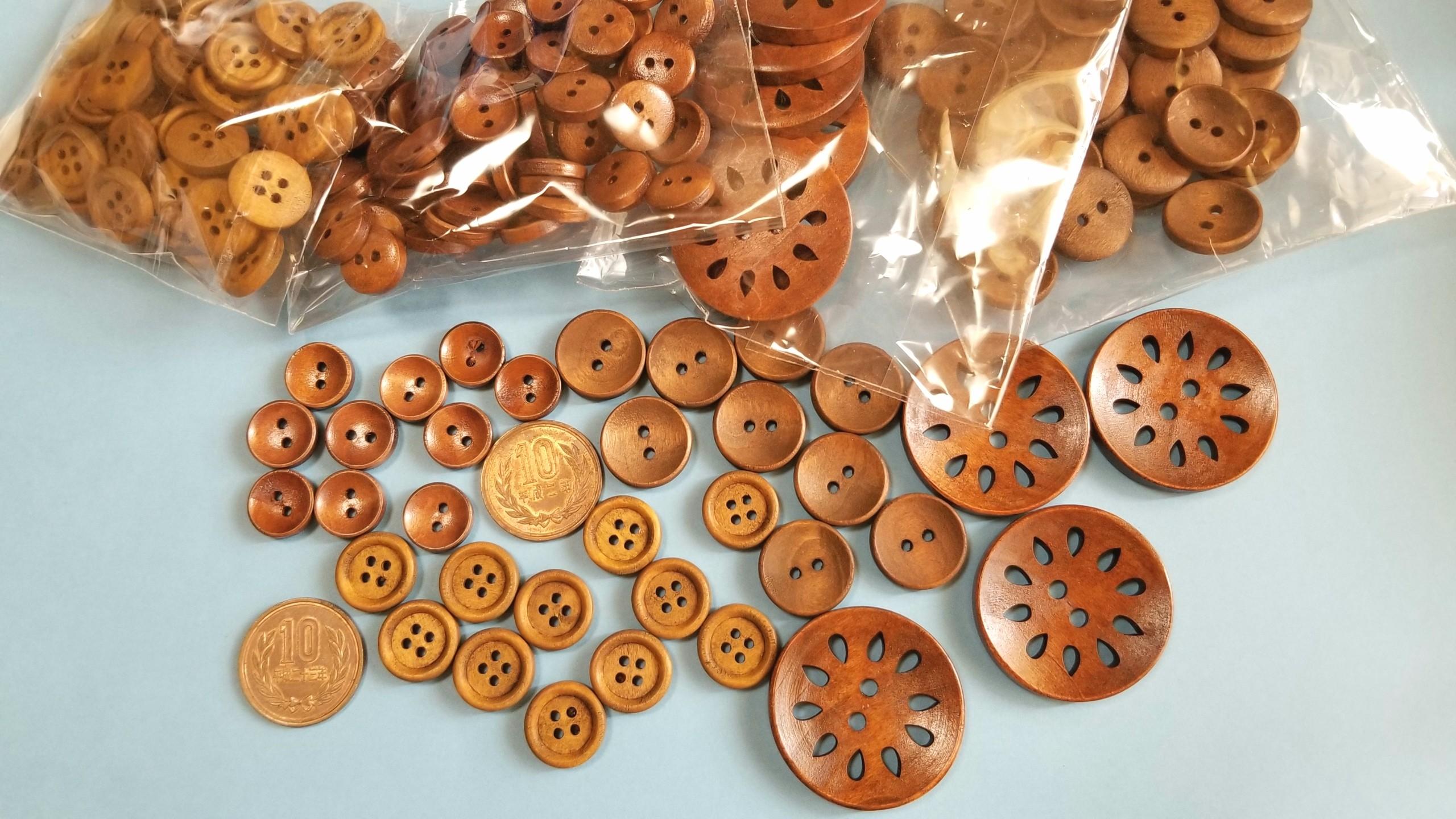 木製ボタン,道具材料,ハンドメイド,購入品,活用するぞ,応用
