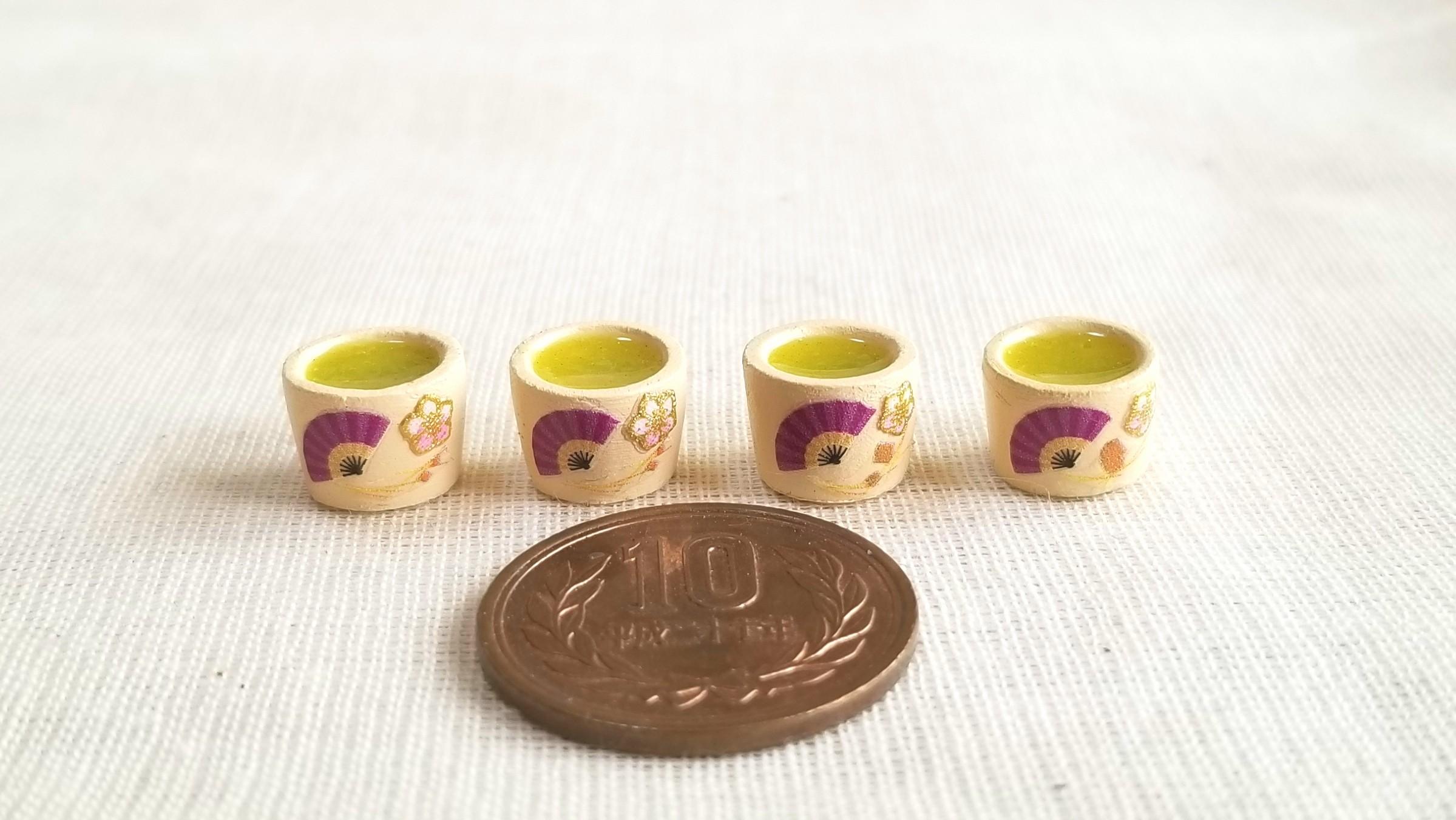 お茶,抹茶,ミニチュアフード,粘土,UVレジン,ミニスウィーツドール