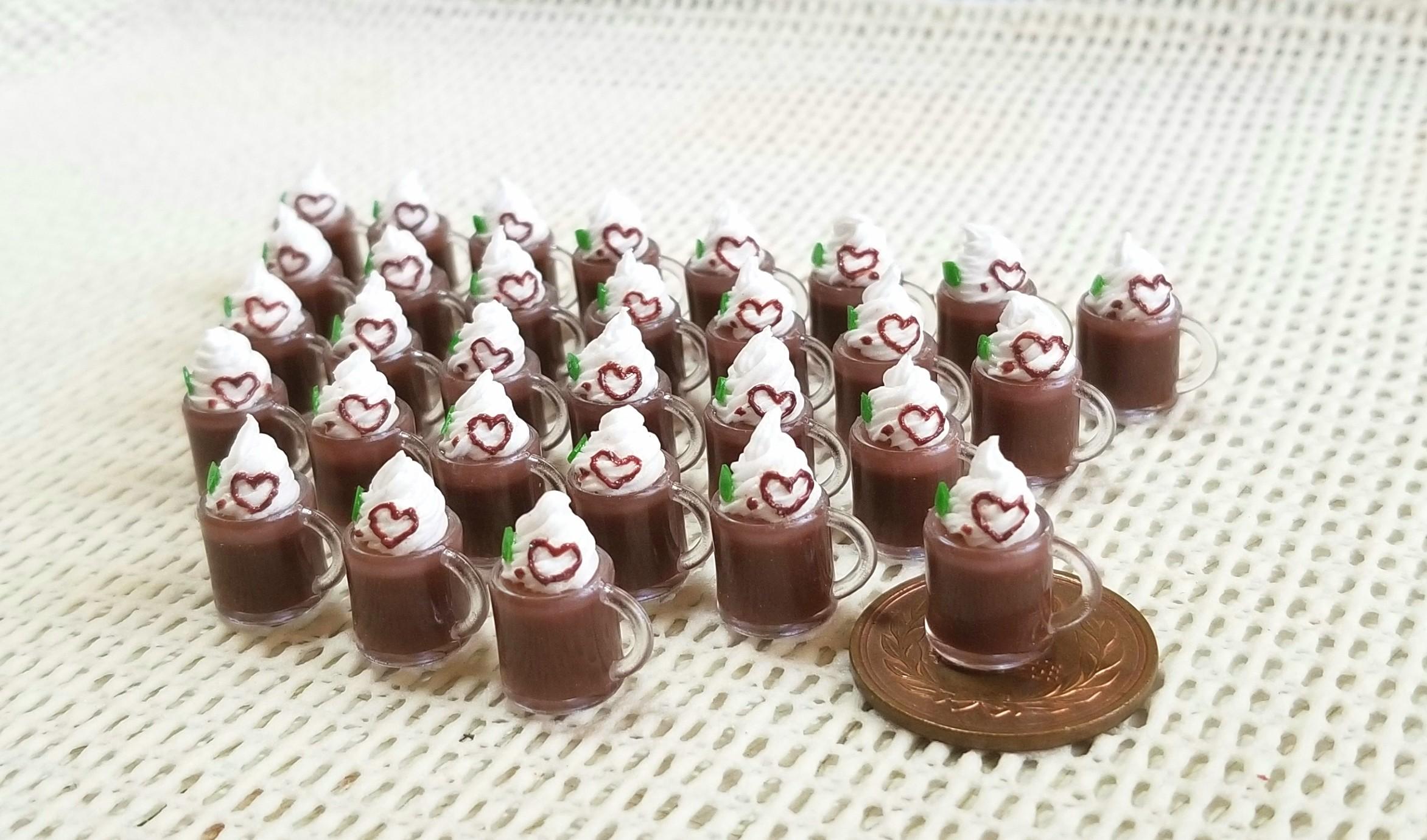 ミニチュア,チョコレートドリンク,フェイクフード,食品サンプル
