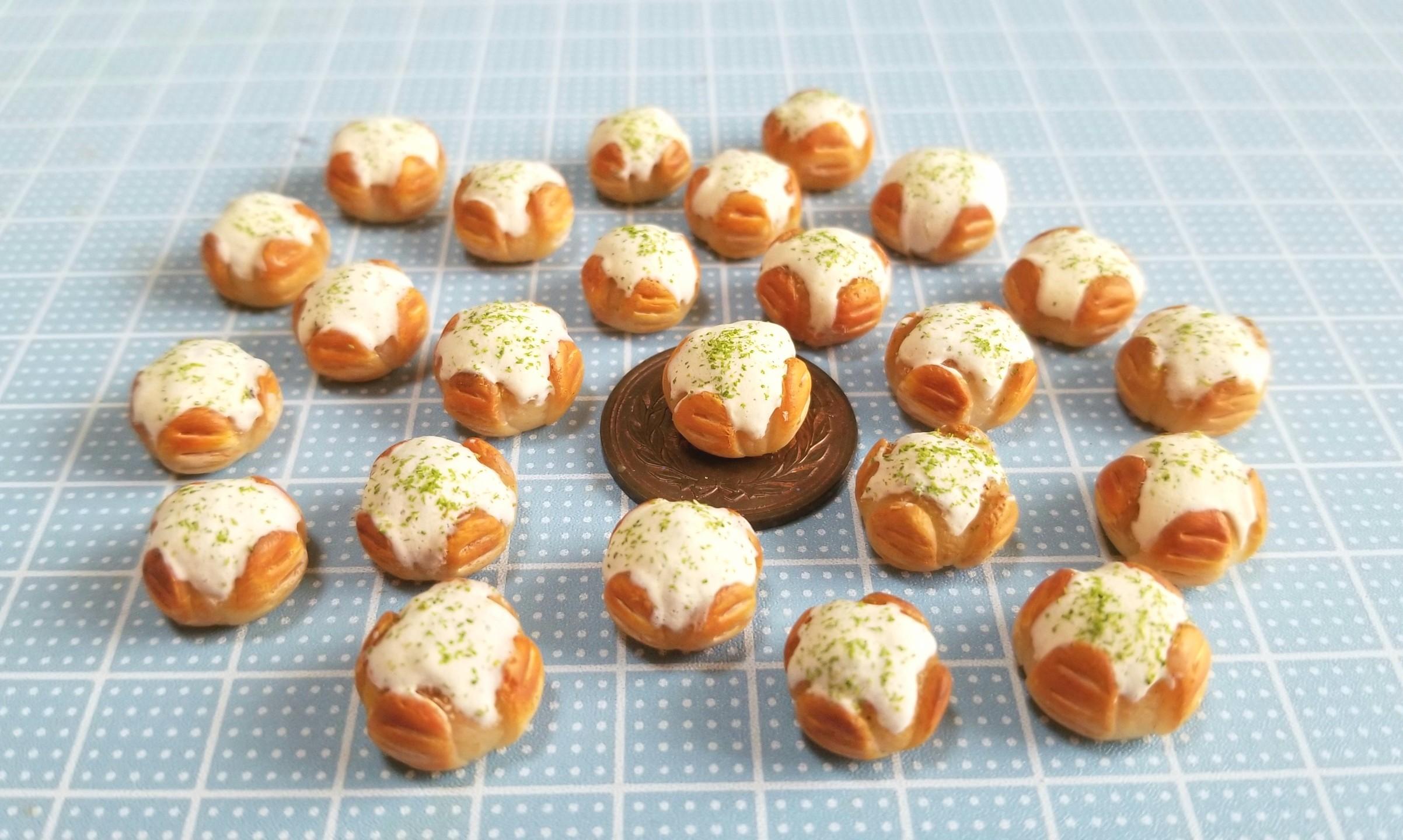 ミニチュアフード,食品サンプル,樹脂粘土,カマンベールチーズパン