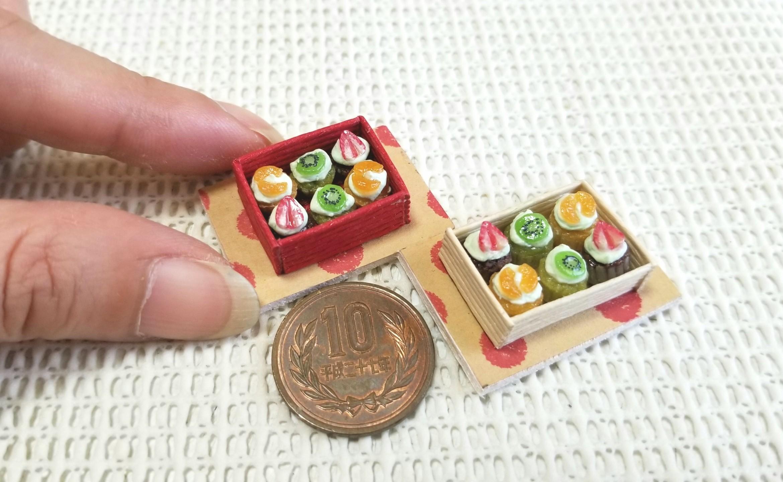 ミニチュア, プチカップケーキ, ミンネで販売中, 樹脂粘土, 小さい