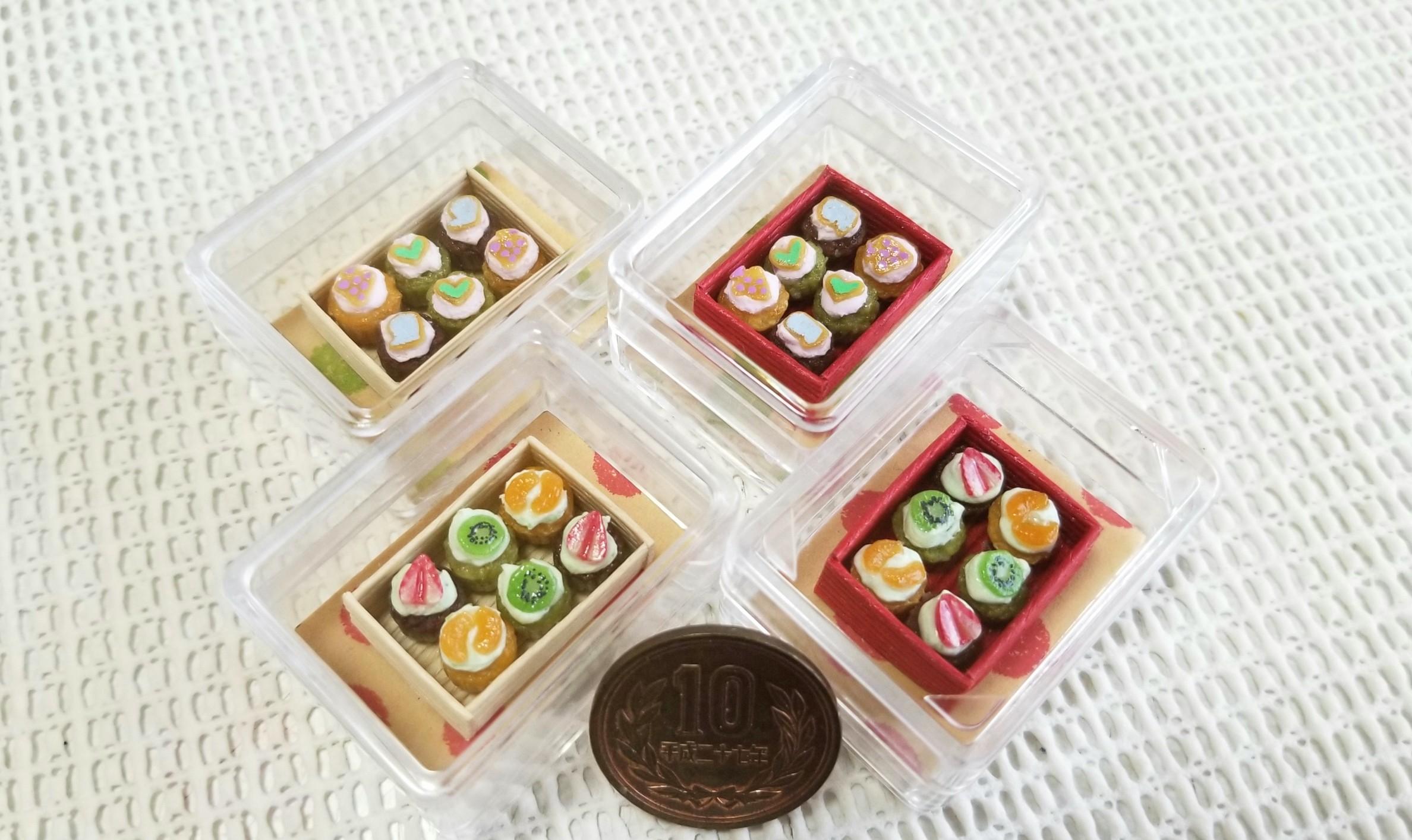 ミニチュアフード, ミニカップケーキ, 樹脂粘土, 食品サンプル