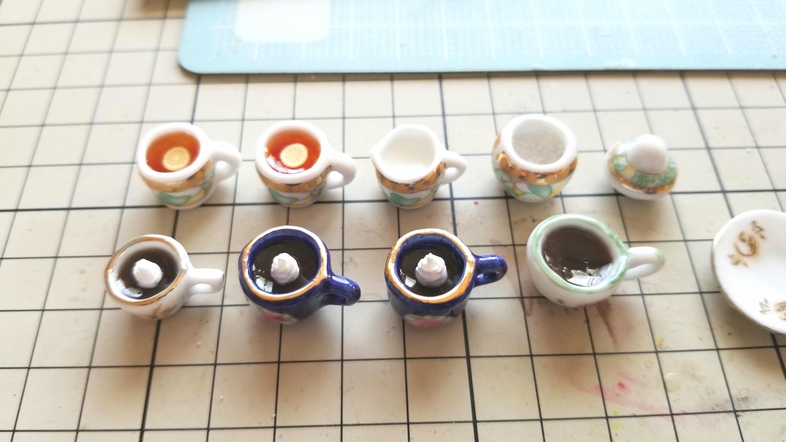 ミニチュアフード,人気おすすめ商品,ミンネで販売中,コーヒー紅茶