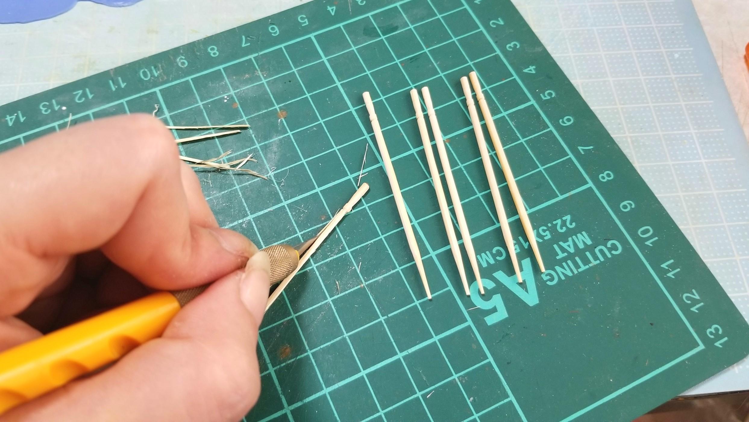 竹串,お団子,作り方,ミニチュアフード,木製,手作り,ドールハウス