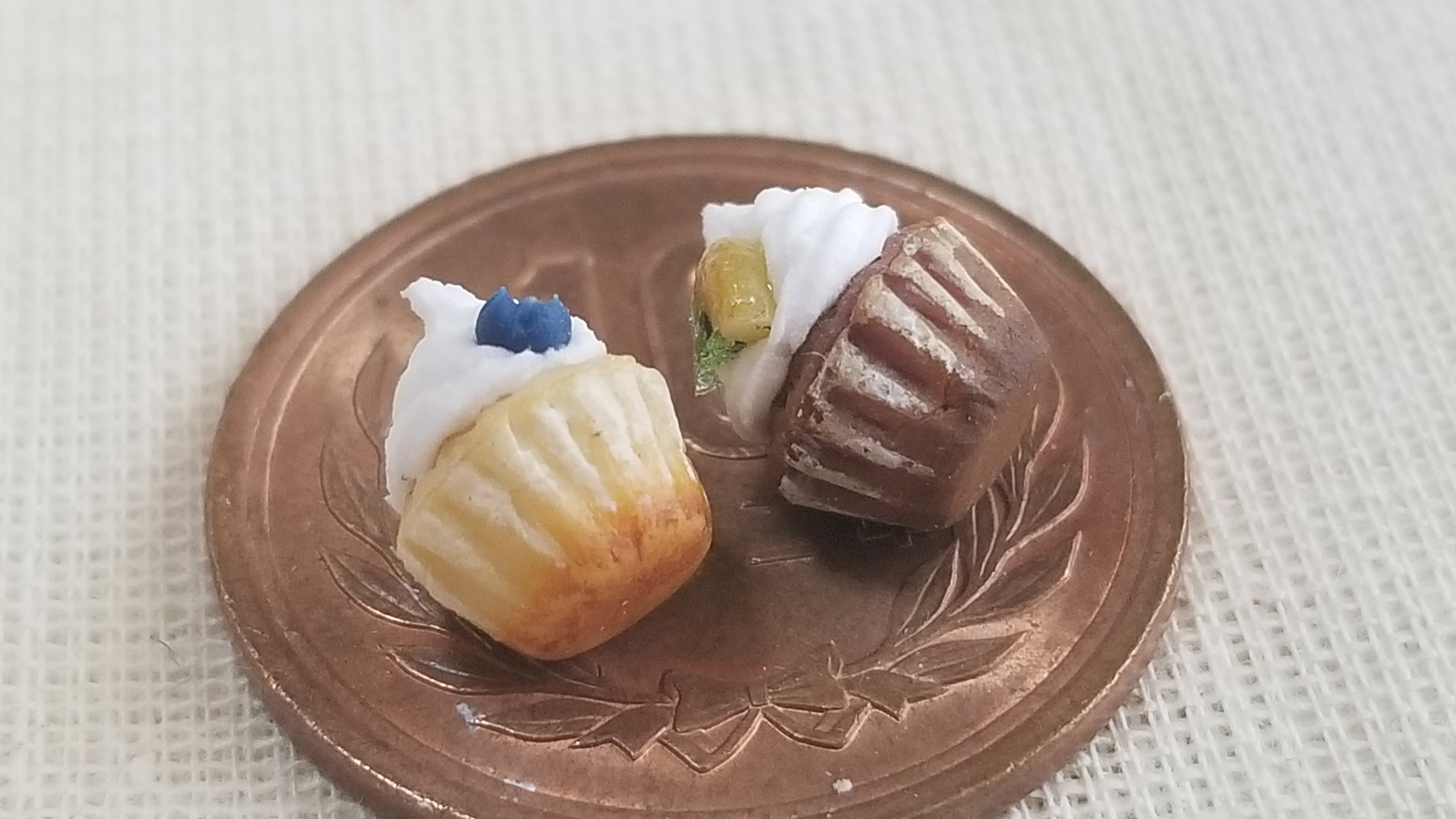 ミニチュア,カップケーキ,ドールハウス,可愛,美味しい,人形,サンプル