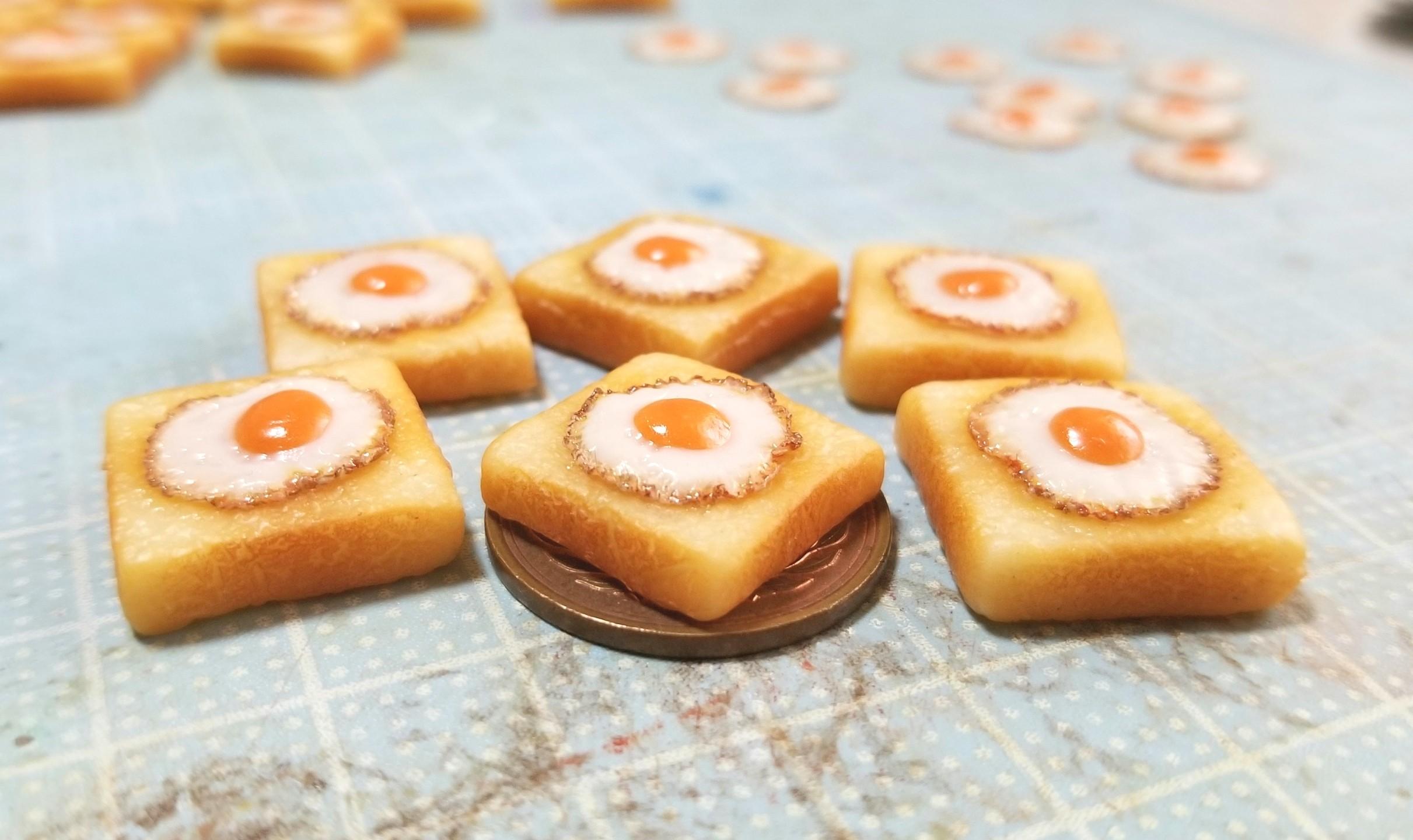 ラピュタパン,トースト,作り方,樹脂粘土,食パン,オビツろいど,人形
