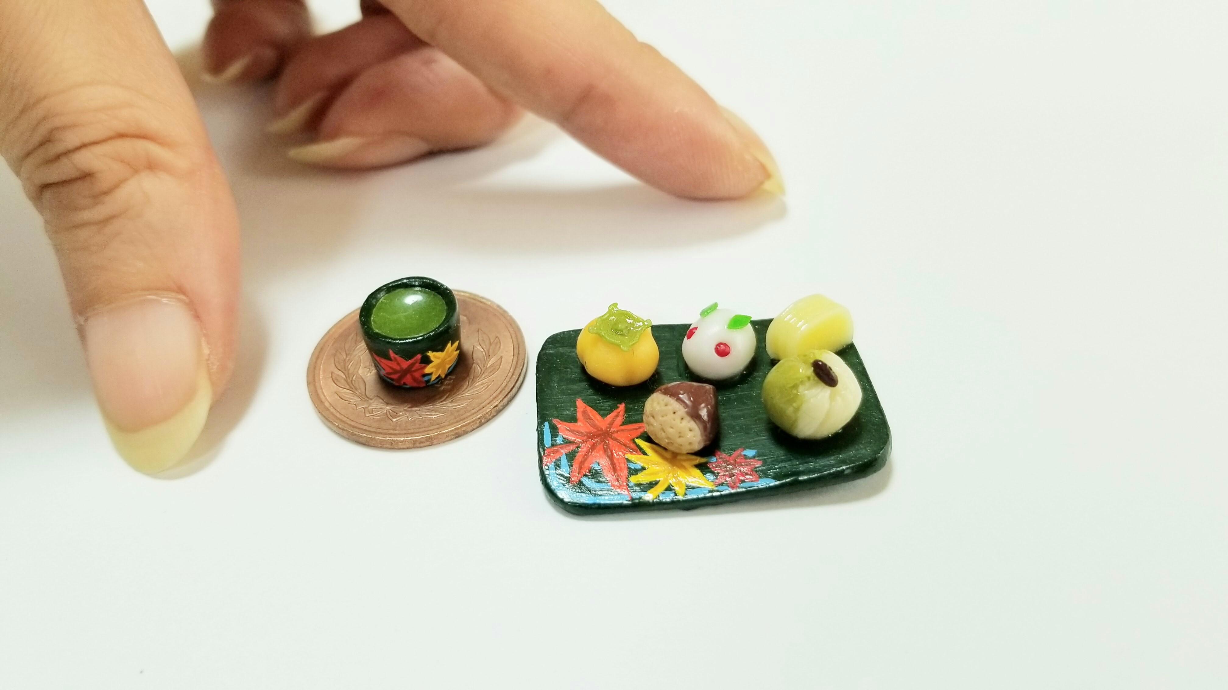 ミニチュア和菓子セットかわいい綺麗な季節の秋冬お洒落おすすめ美味