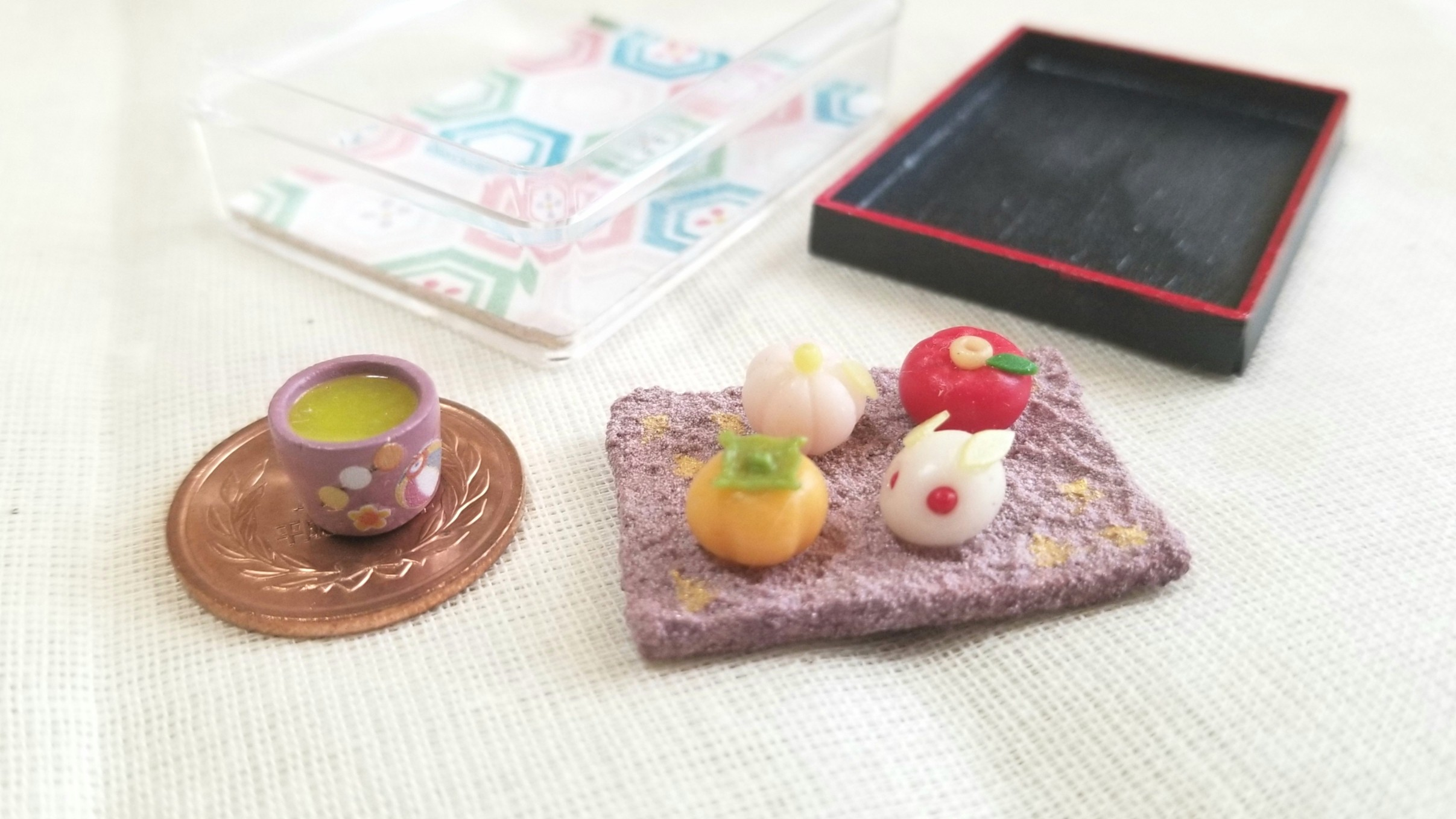 可愛い和菓子,うさぎ饅頭,柿,桃,椿,絶品,ミニチュア,美味し抹茶,季節