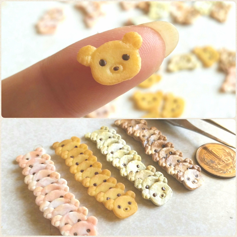 可愛い指先サイズ,くまちゃんクッキー,ドール人形用品,人気おもちゃ