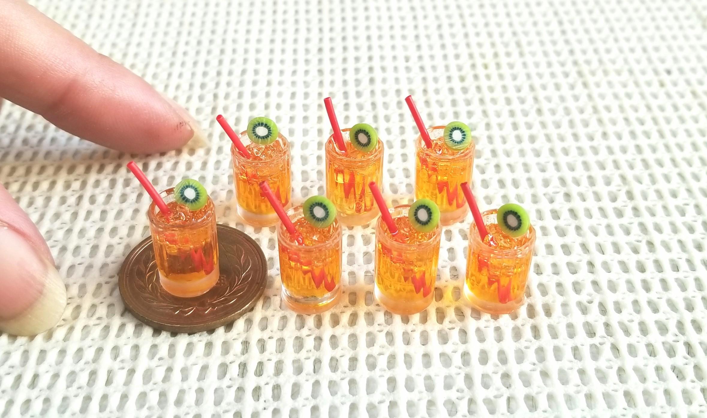 オレンジのカクテル,ドリンクミニチュアフード,レジン,ねんどろいど