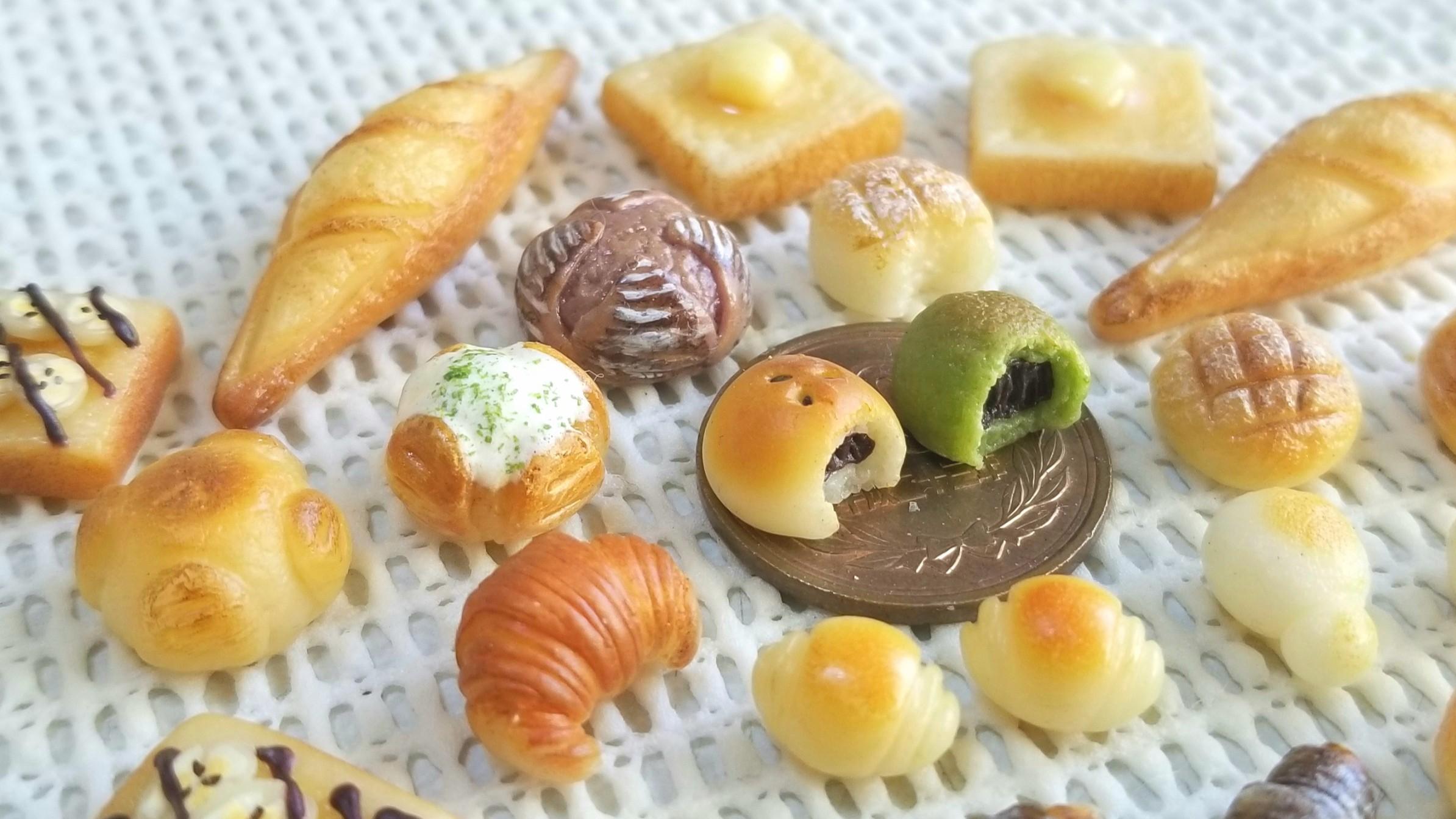 かわいいミニチュアパン,手作りアート,おすすめミンネおもちゃ,小物