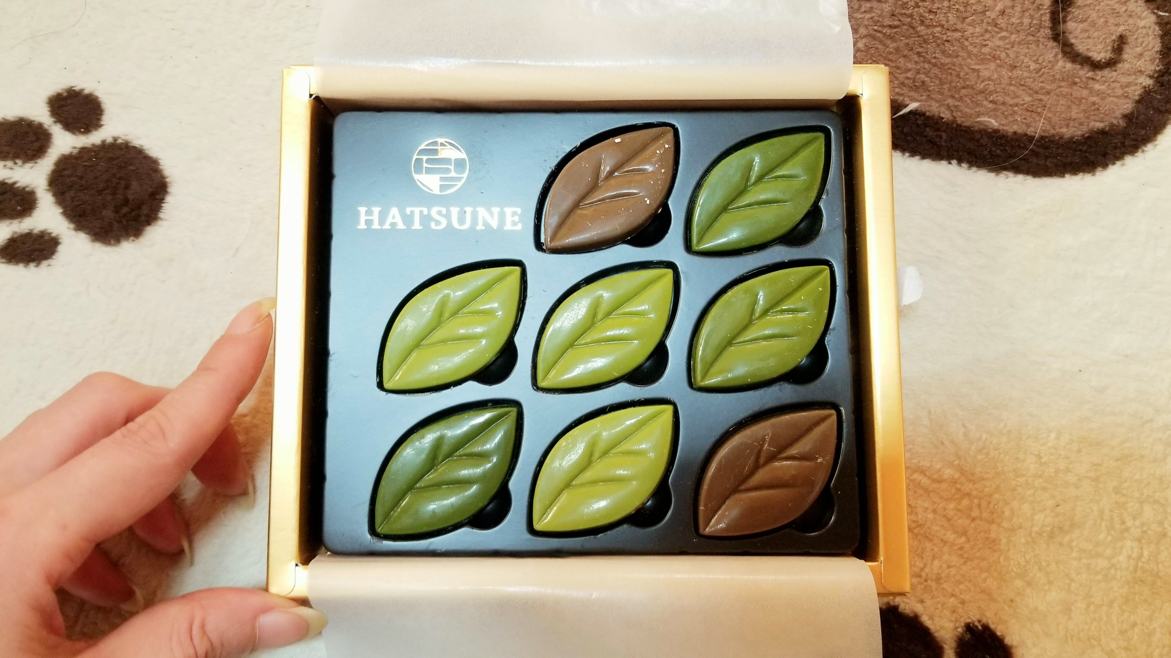 バレンタインチョコレートhatsuneリーフ抹茶味美味しい甘いかわいい