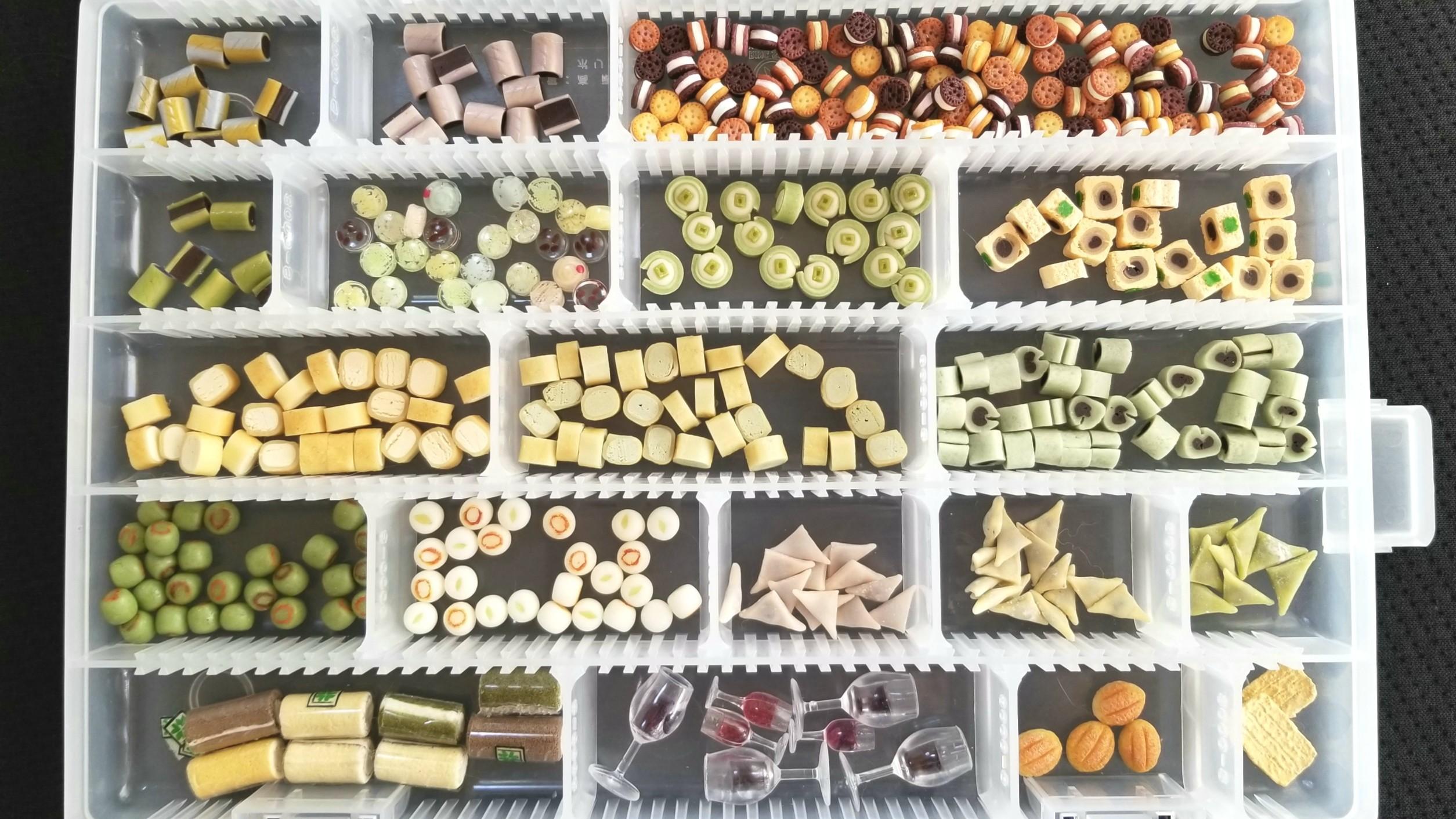 フェイク,量産,大量,ミニチュアフード,樹脂粘土,和菓子,食品サンプル
