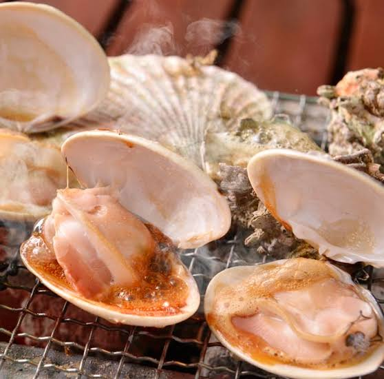 おいしい,海鮮貝,炭火焼き,網焼き,定番,人気,インスタ映え,画像