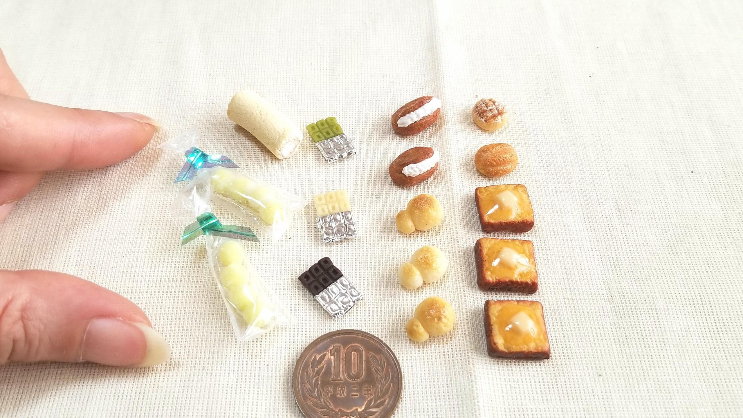 ミニチュアフード,パン,チョコレート,お菓子,キャンディー,ドール
