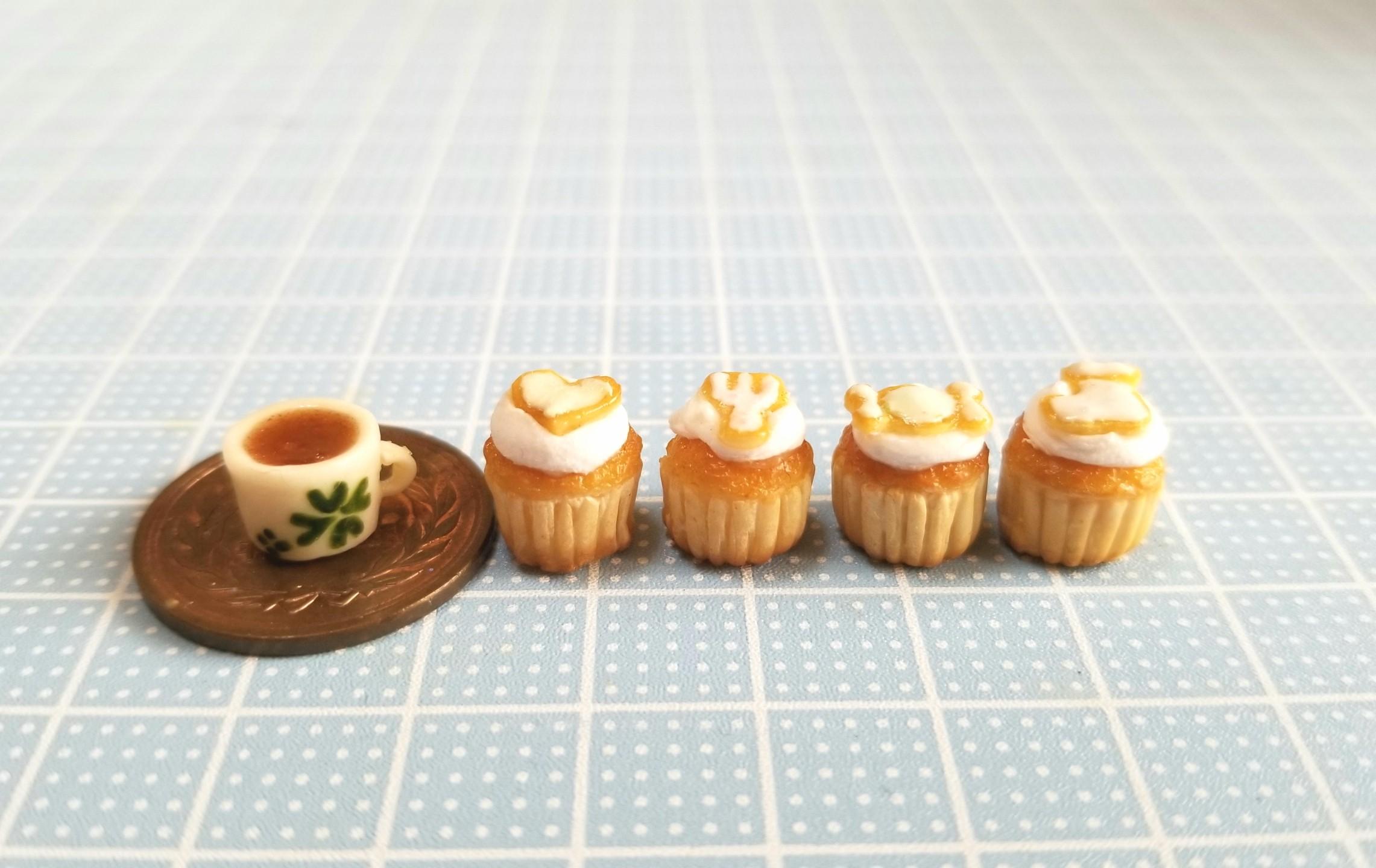 ミニチュアフード,カップケーキ,アイシング,樹脂粘土,ねんどろいど