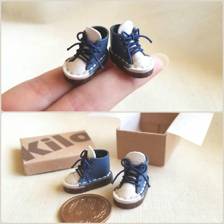 ドール小物,ミニチュア靴,スニーカー,かわいい,お洒落,本皮,雑貨