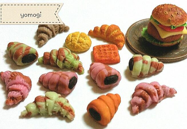 ミニチュアフード,かわいいマーブルパン,樹脂粘土,製作工程まとめ