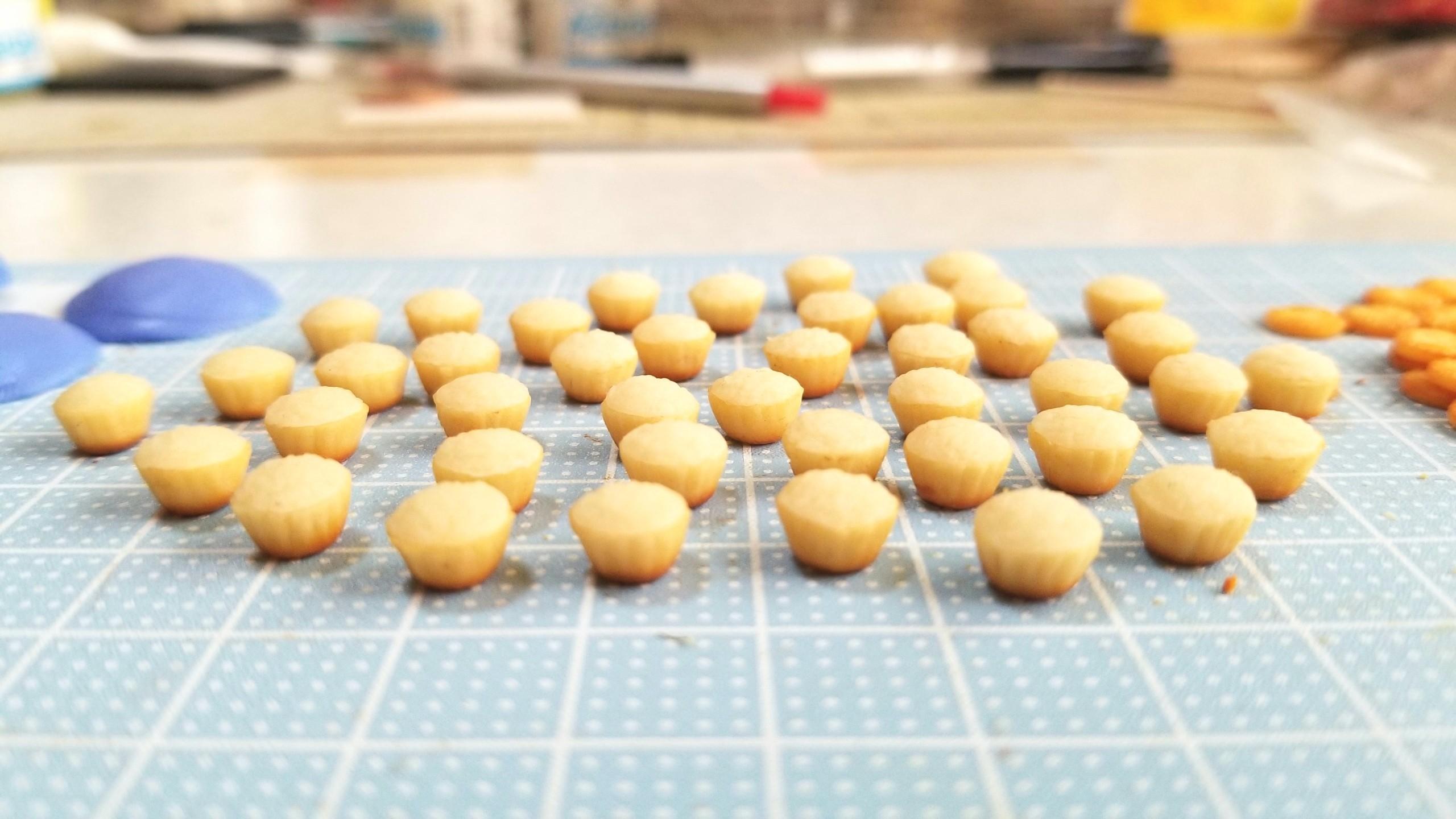 プチカップケーキ,作り方,ミニチュア,粘土,ねんどろいど,シルバニア
