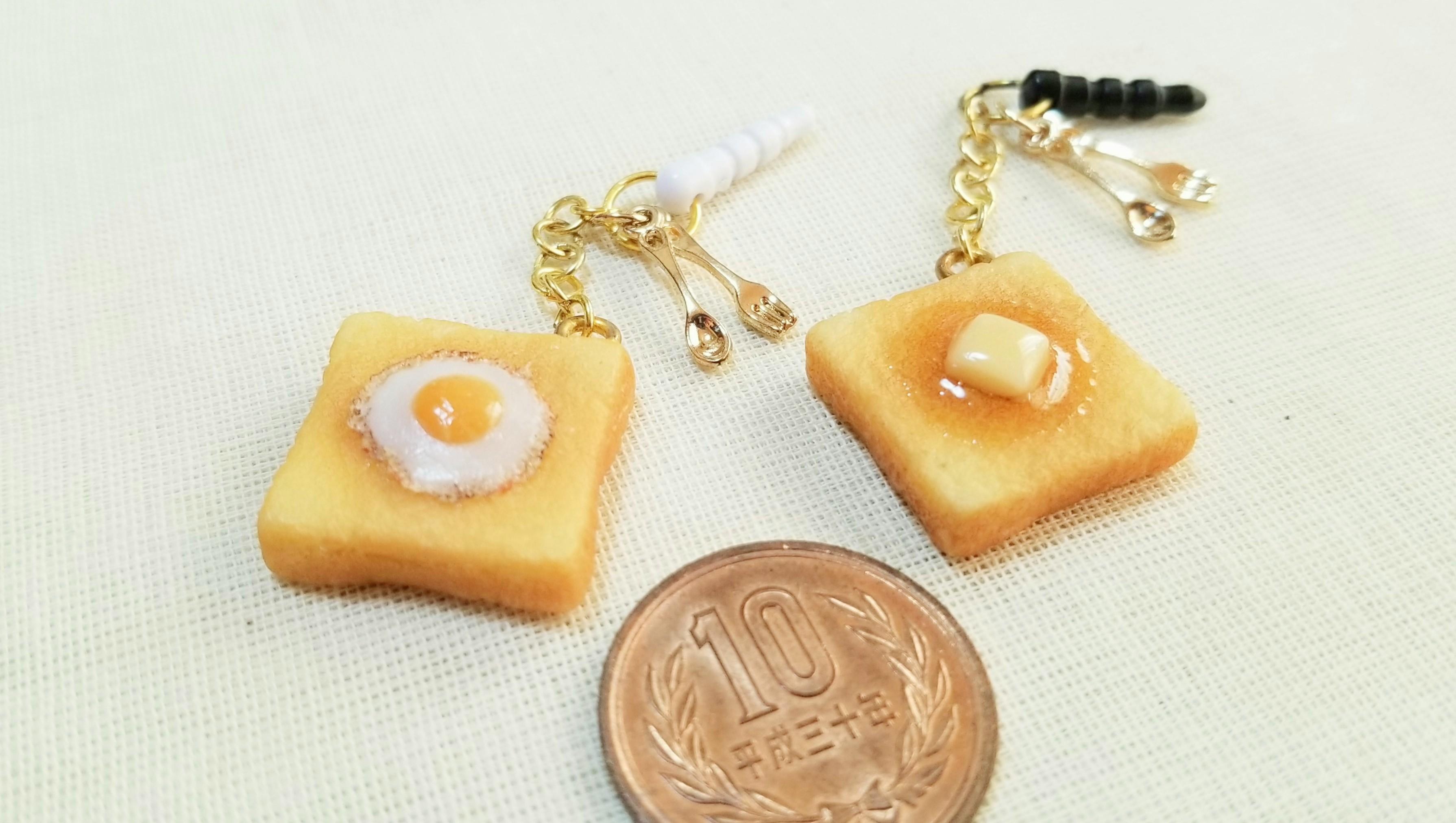 ハンドメイドアクセサリーパン小物携帯イヤホンジャックおすすめ人気