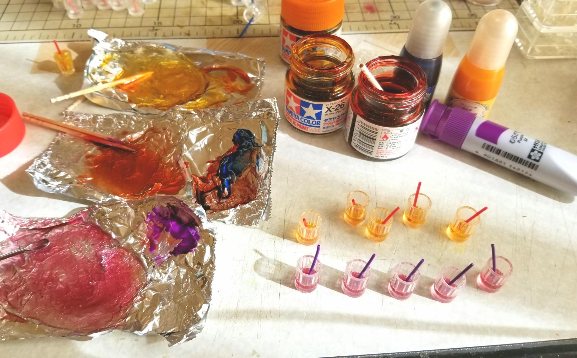ミニチュアフード,UVレジン,飲み物,ジュース,ドリンクの作り方,樹脂
