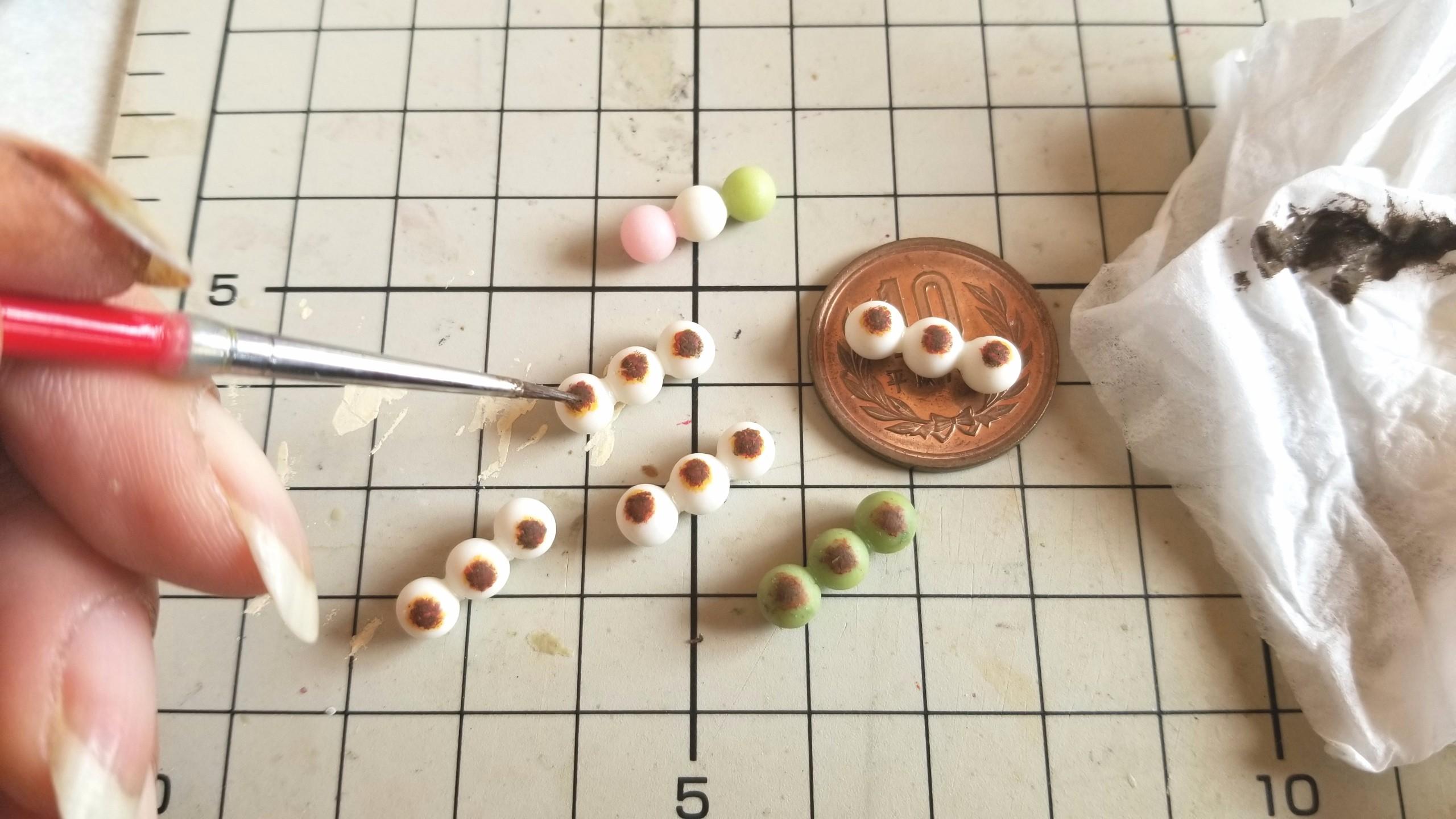 ミニチュアフード和菓子お団子春花見時期シーズンおいしいおすすめ