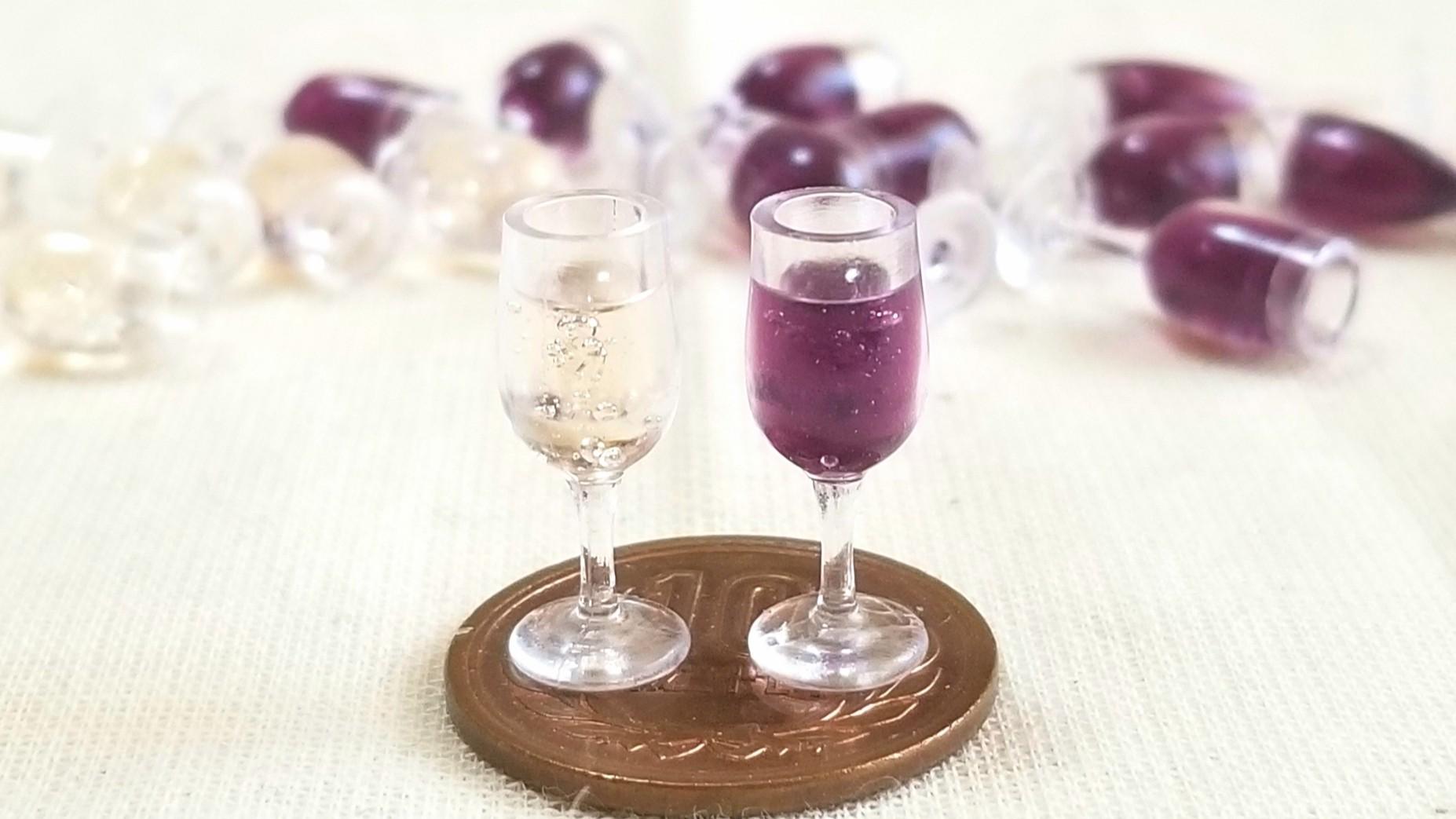 ワイン,ロゼ,シャンパン,赤白,シルバニアサイズ,小物,ドール遊び