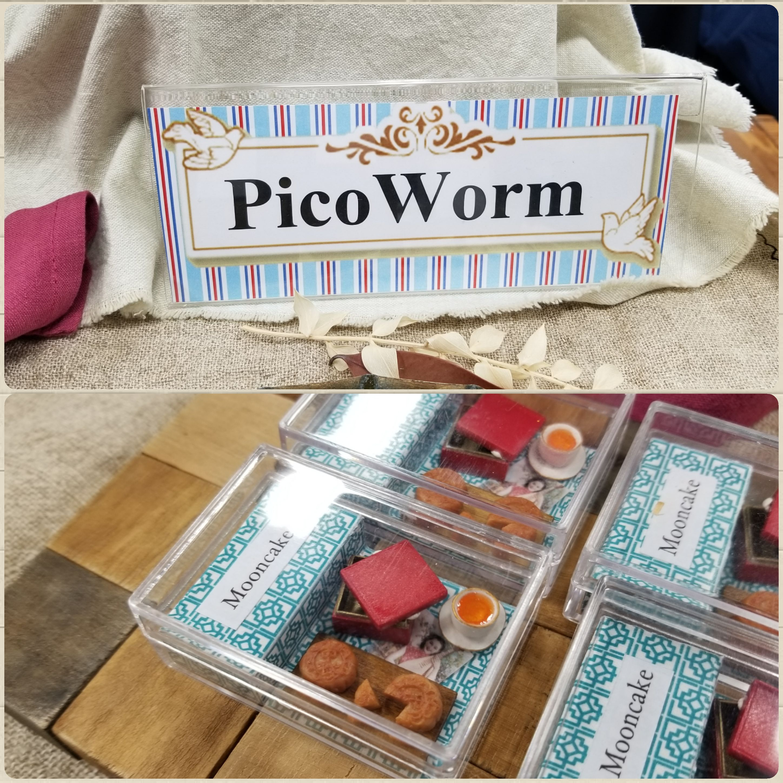 Pico Worm,ミニチュアフード作家,樹脂粘土,ポリマークレイ,大好き