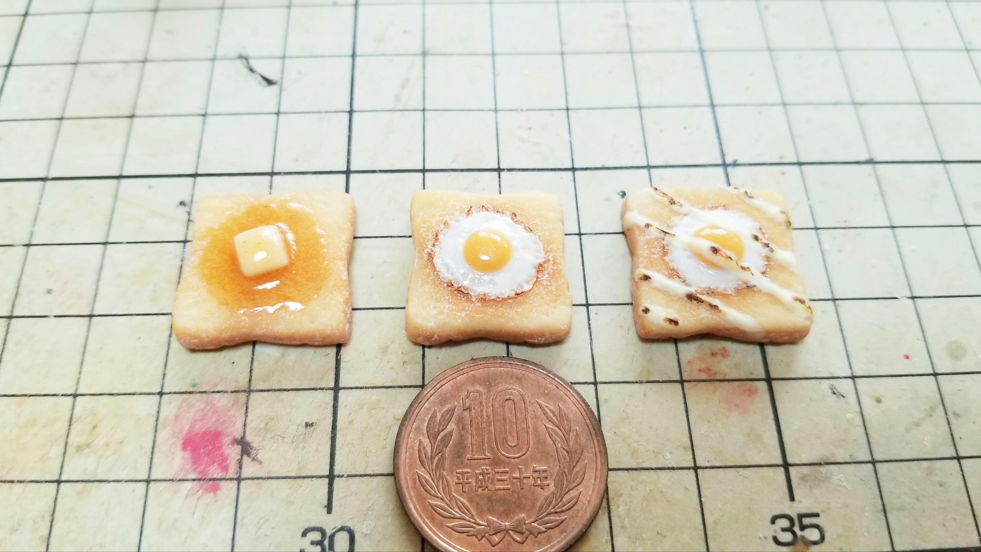 ミニチュアフードの世界フェイク食パントースト食品サンプルリアルな
