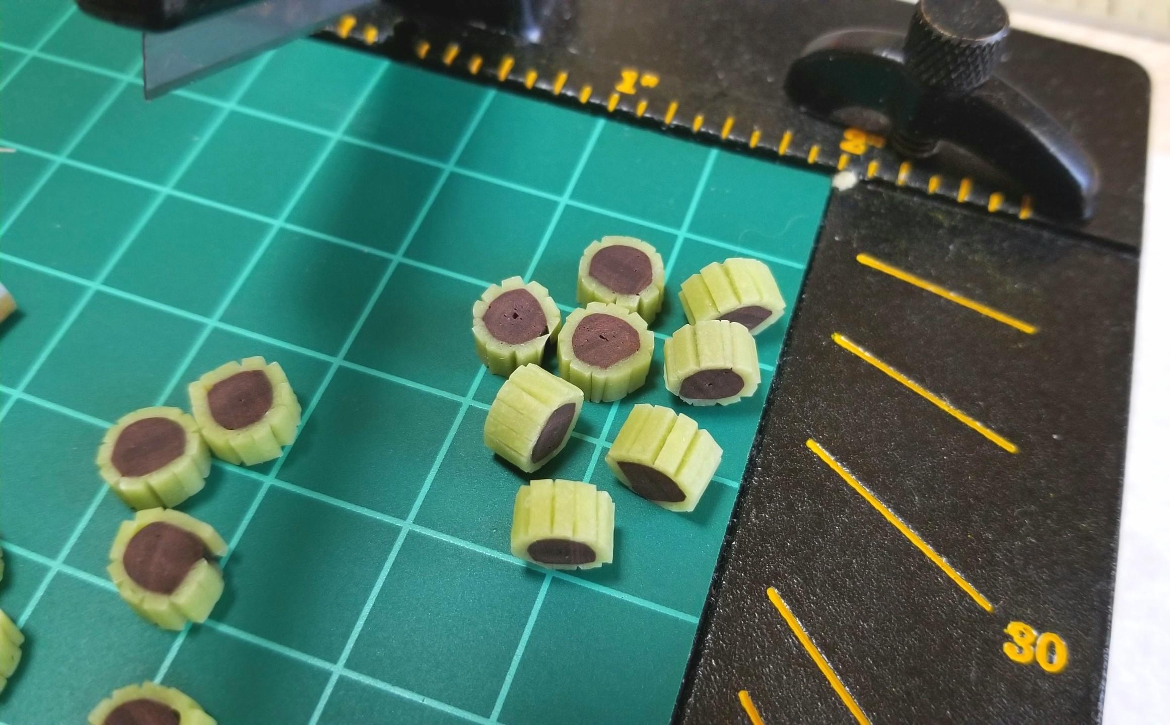 ミニチュア,和菓子,あんこ,チョッパー,樹脂粘土,ドールハウス